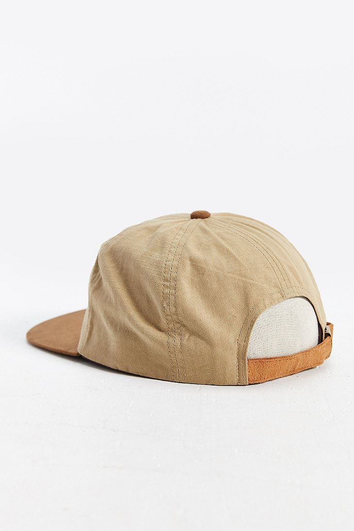 539529896b0 Lyst - Brixton Oath 7-panel Strapback Hat in Natural for Men