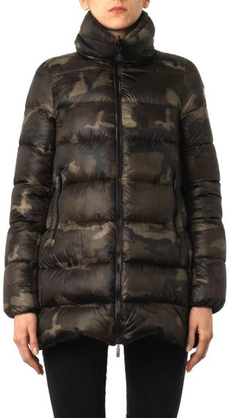 Moncler Torcy Camouflage Quilted Down Coat In Green Lyst