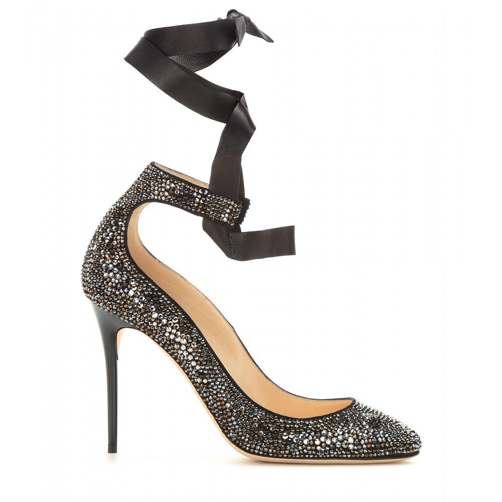 Jimmy Choo Embellished Leather Pumps manchester great sale discount cheap price new arrival cheap online dpQJwl