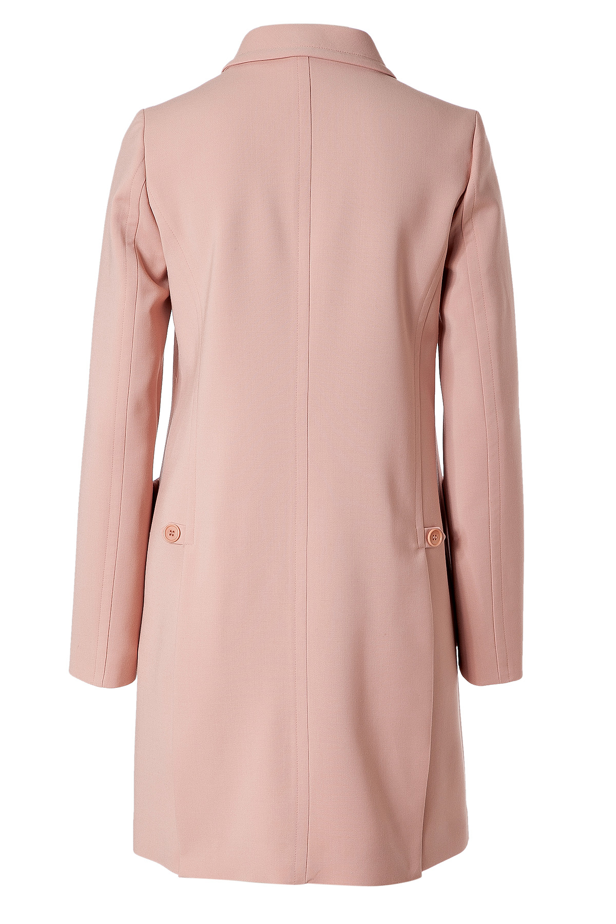 Jil sander navy Blush Wool Coat in Pink | Lyst