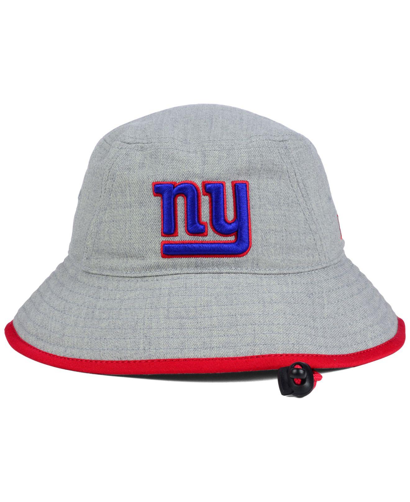 Lyst - KTZ New York Giants Nfl Heather Gray Bucket Hat in Gray c837b2fde