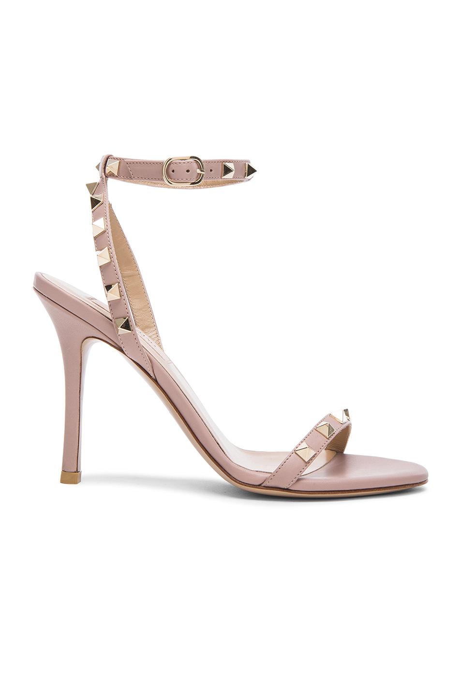 Valentino Rockstud Leather Strap Sandal HTKkb8DQ