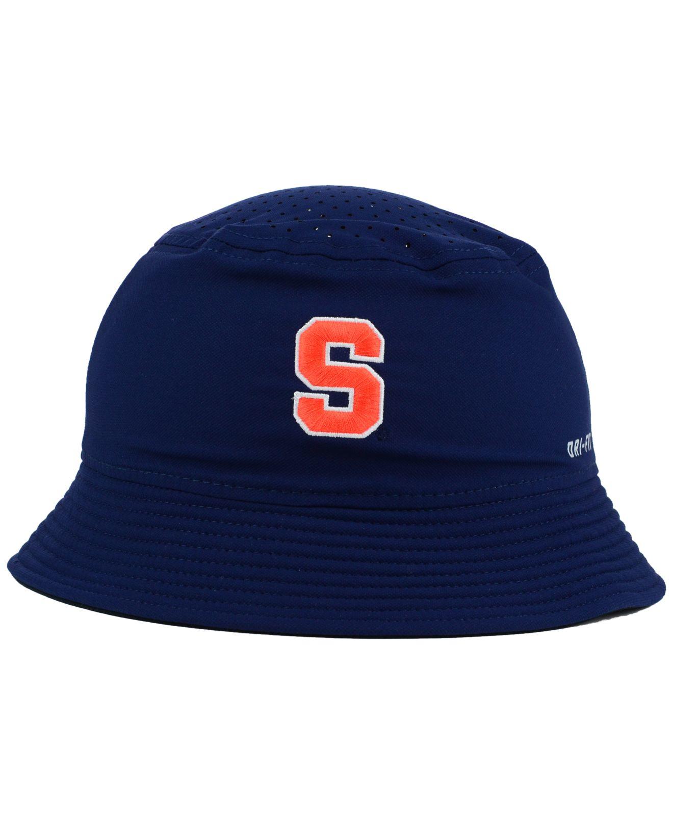 Lyst Nike Syracuse Orange Vapor Bucket Hat In Blue For Men