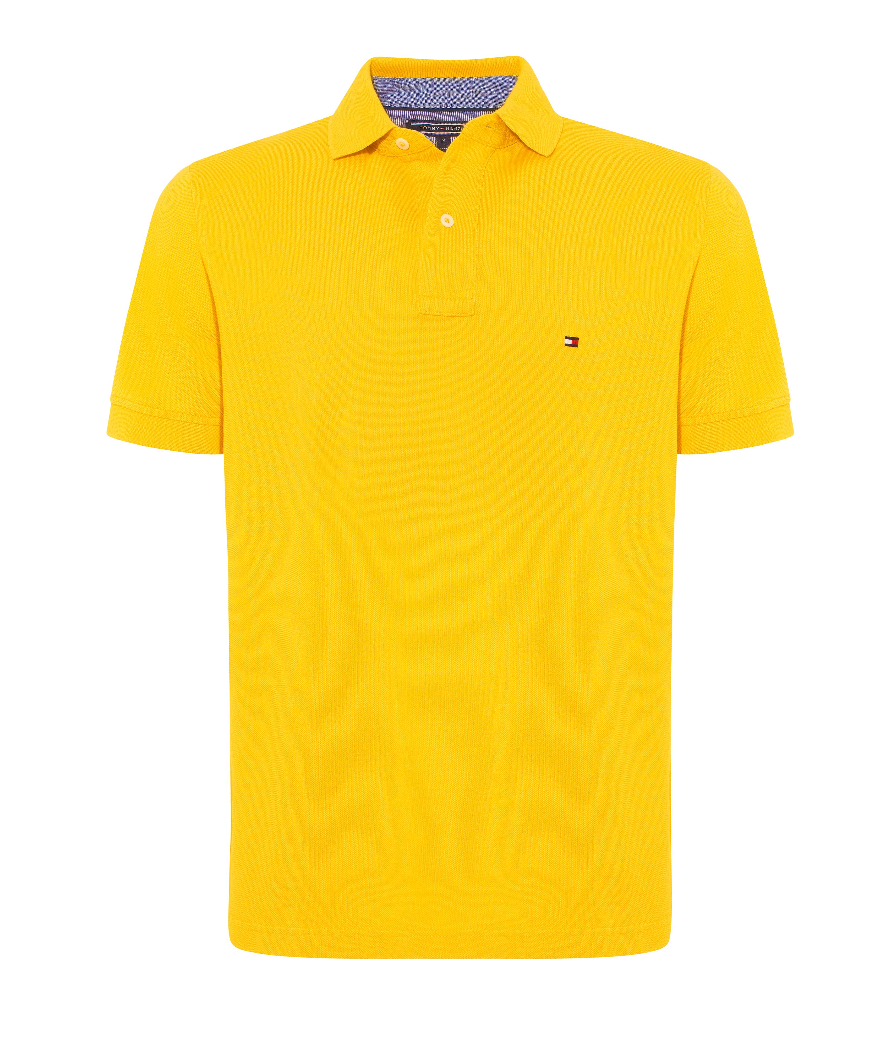 tommy hilfiger tommy plain regular fit polo shirt in yellow for men lyst. Black Bedroom Furniture Sets. Home Design Ideas