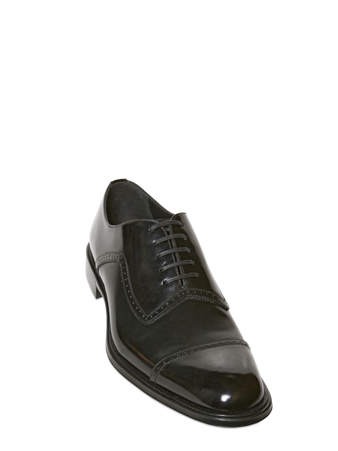9ad8168a58f Dolce & Gabbana Siena Brushed Calf Oxford Lace Up Shoes in Black for ...
