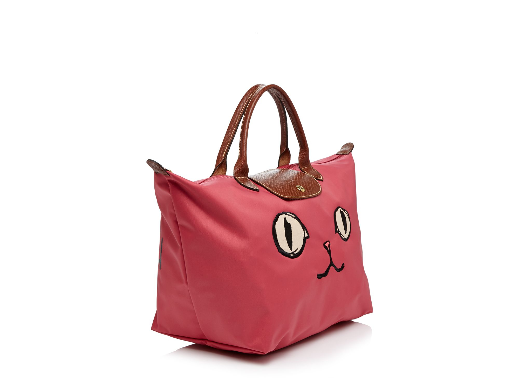 Lyst Longchamp Le Pliage Miaou Medium Tote In Pink