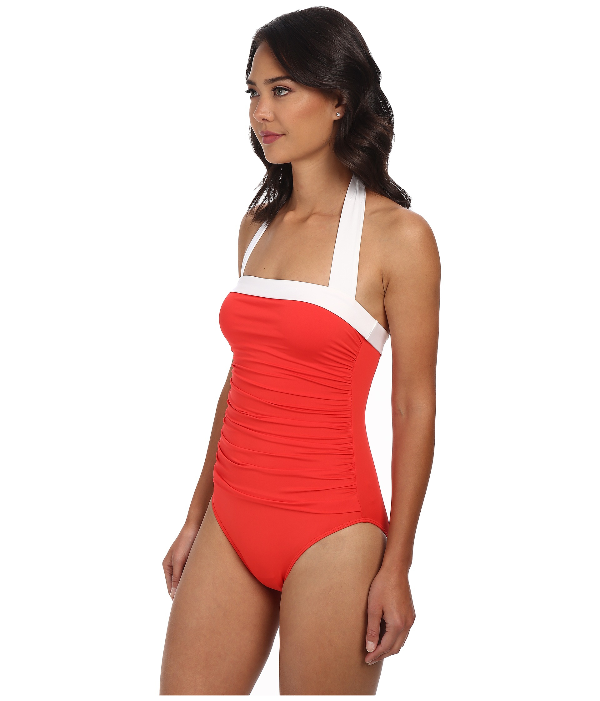972a92203b707 Swimwear, Surfwear & Wetsuits Lauren by Ralph Lauren Bel Aire Slimming Fit  One Shoulder One Piece Swimsuit