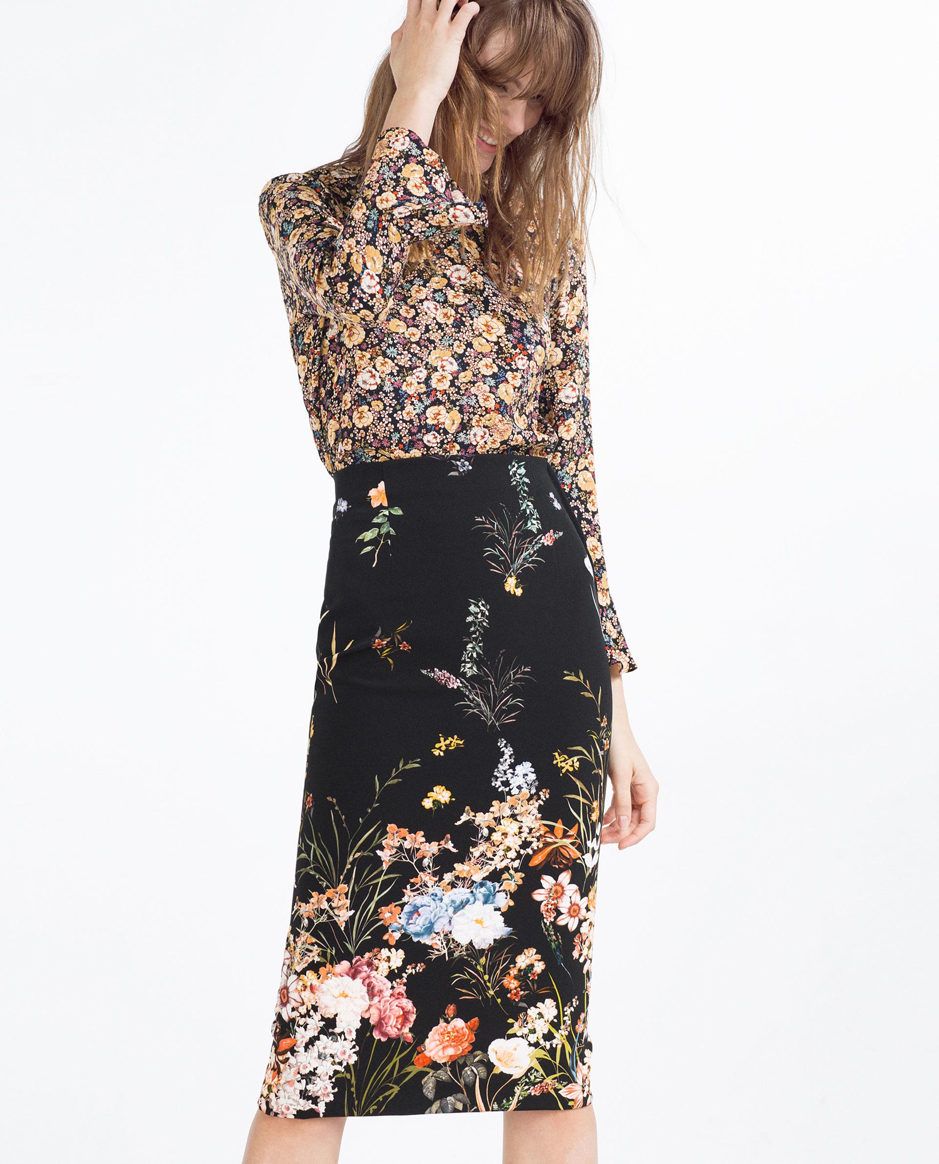floral pencil skirt - photo #40