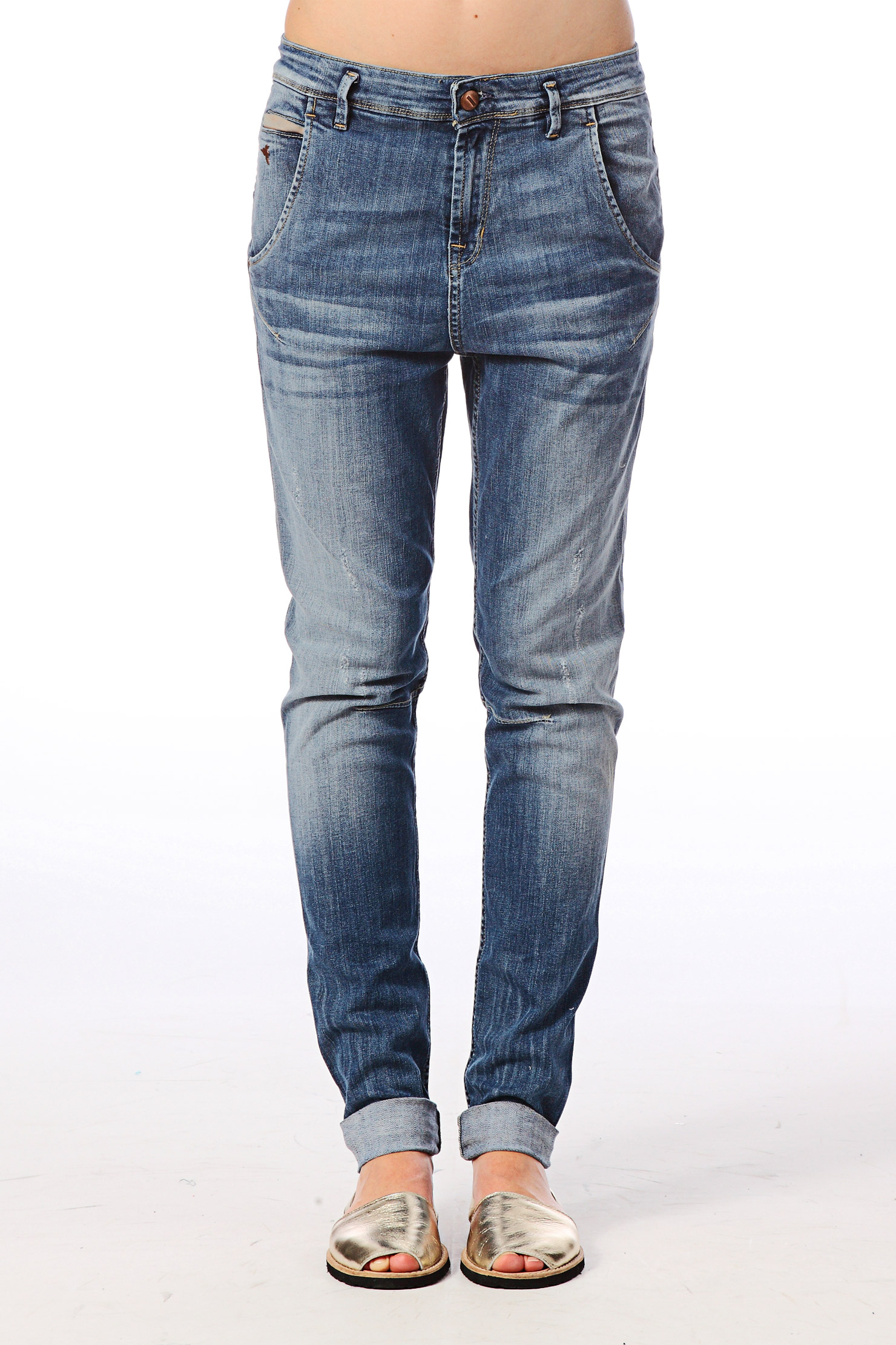 DENIM - Denim trousers Ichi Free Shipping Get Authentic High Quality Sale Online Sale Clearance dQigxhM