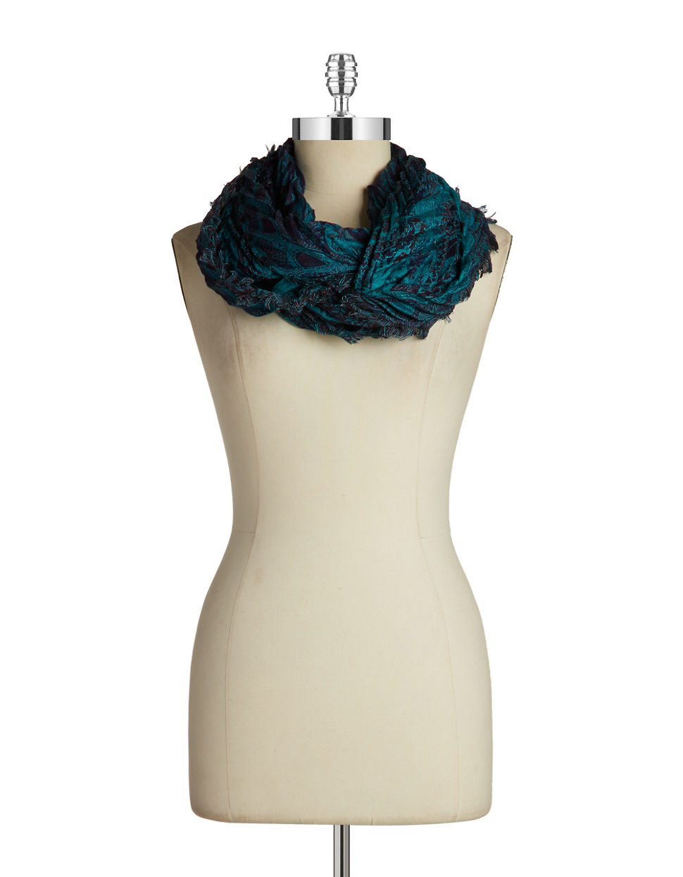 collection 18 floral print infinity scarf in blue lyst