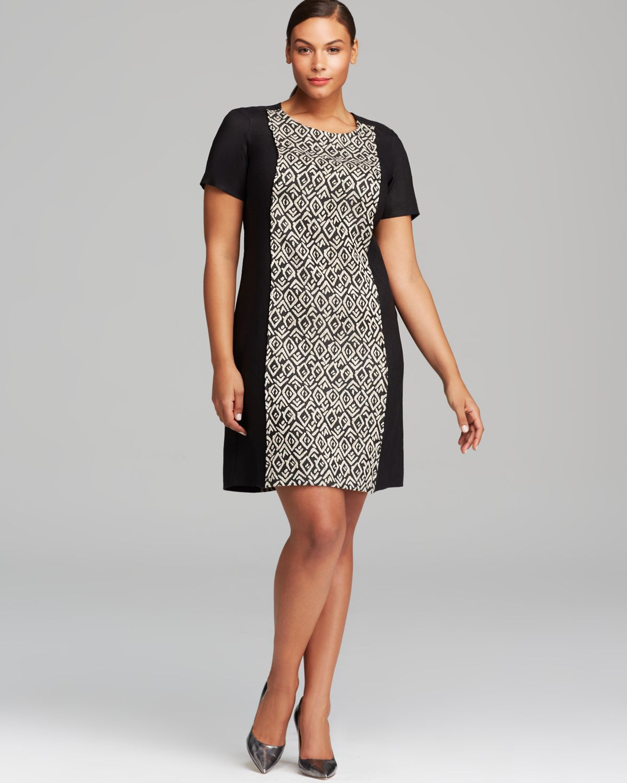 Lyst - Marina Rinaldi Plus Eolo Dress in Black d0e0fe0cd4
