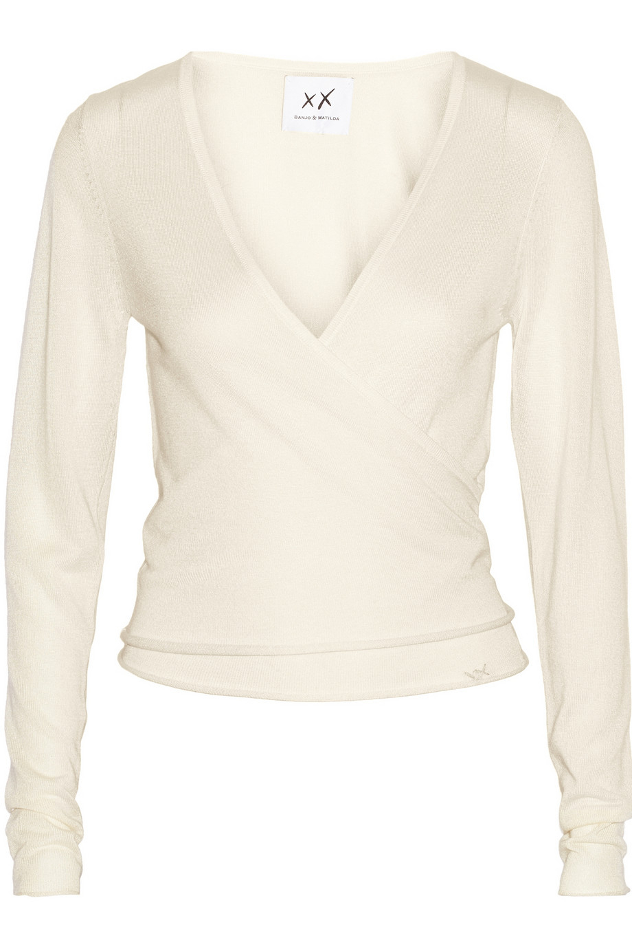Banjo & matilda Ballet Silk And Cashmere-Blend Wrap Cardigan in ...