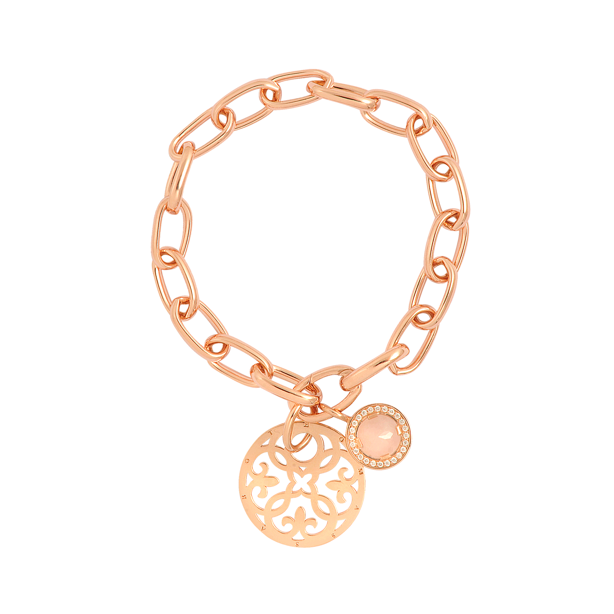 Thomas sabo Rose Gold Charm Bracelet in Pink