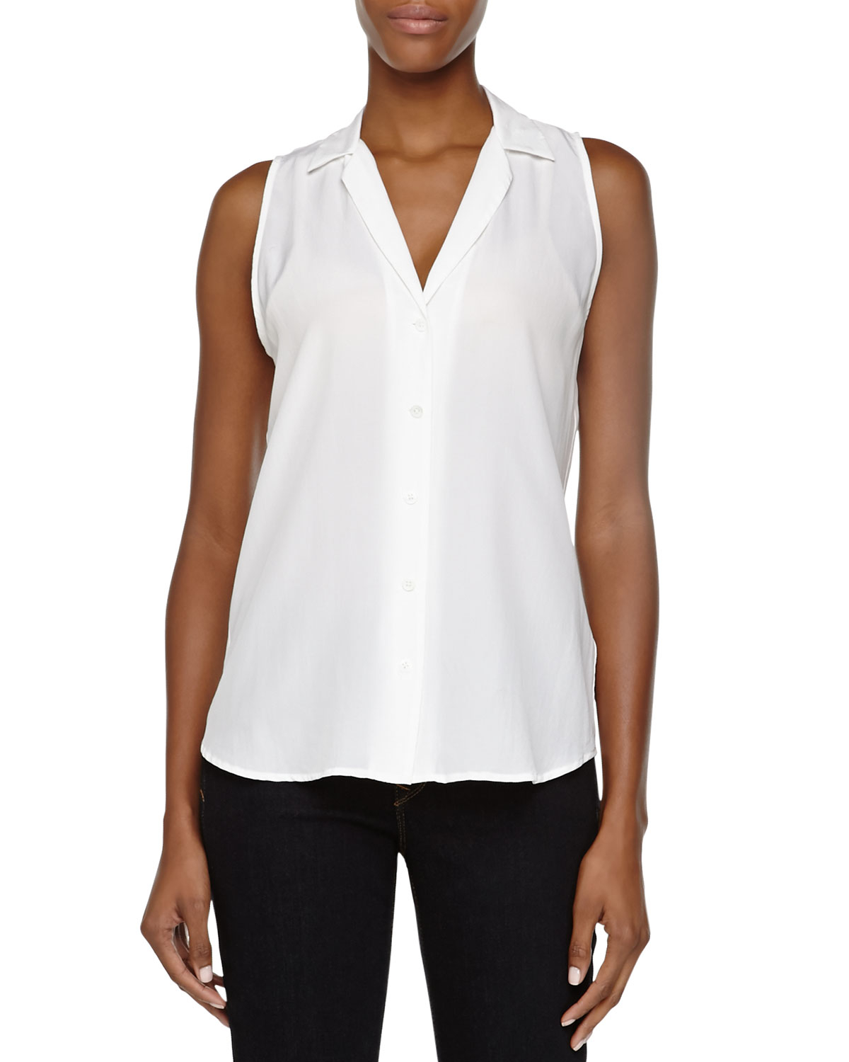 Sleeveless Blouse White 5