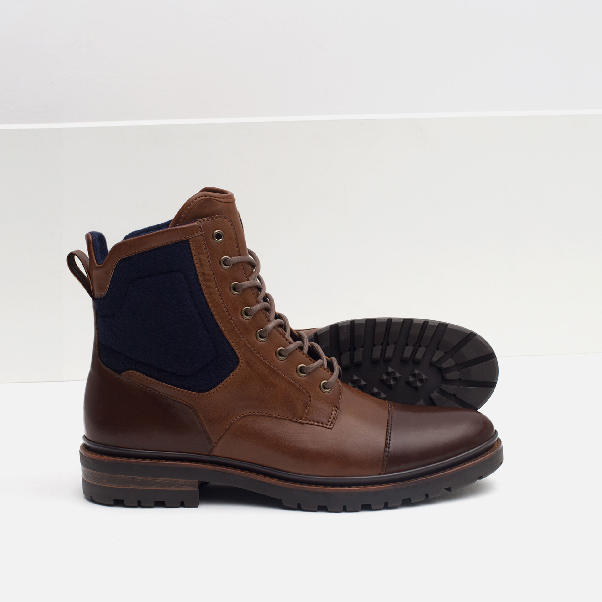 zara combined boots with grip sole combined boots with