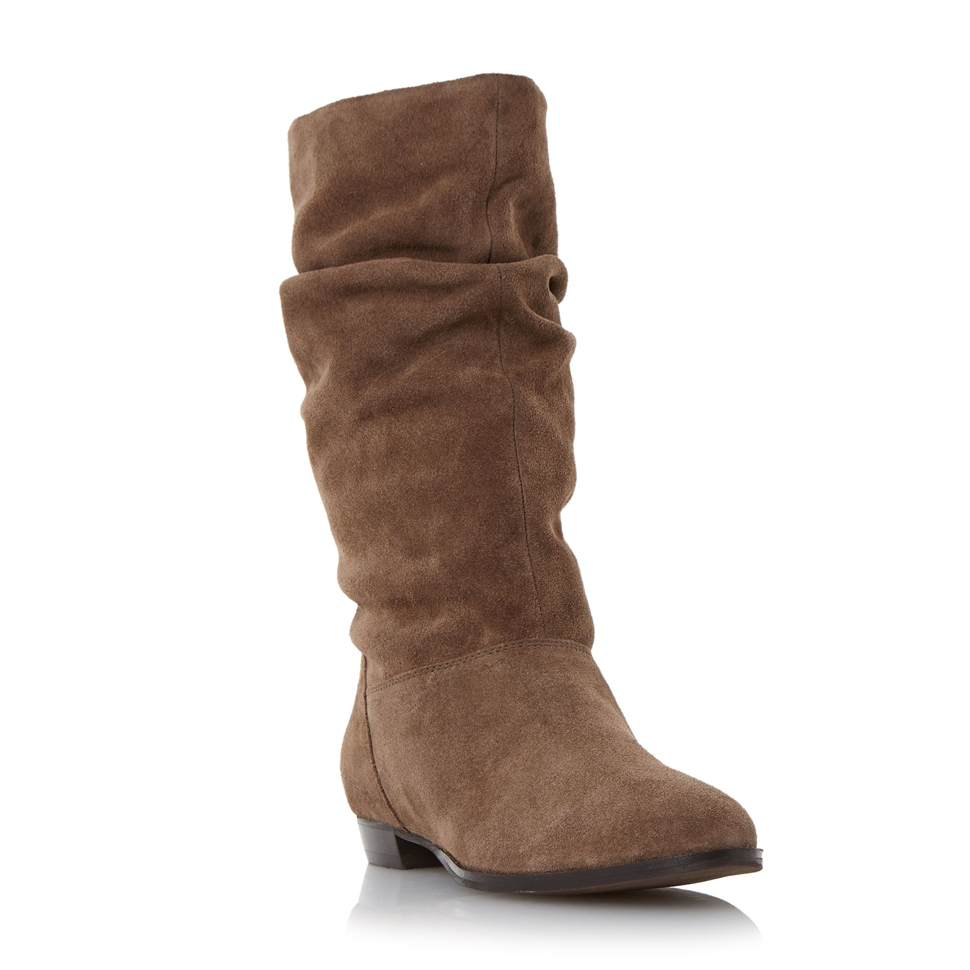 Lyst Dune Relissa Slouch Calf Boots In Brown