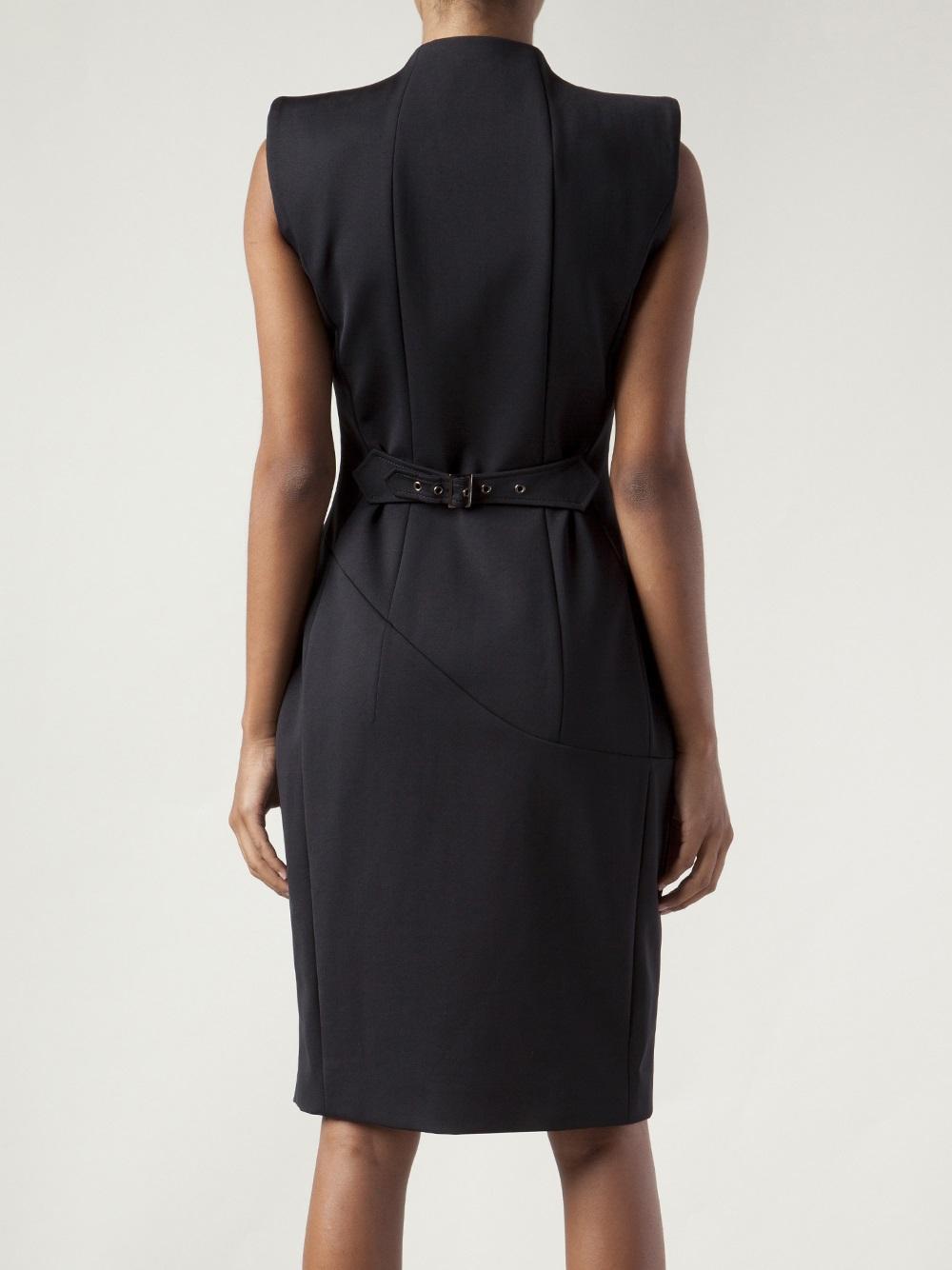 Altuzarra Double Breasted Button Dress In Black Lyst