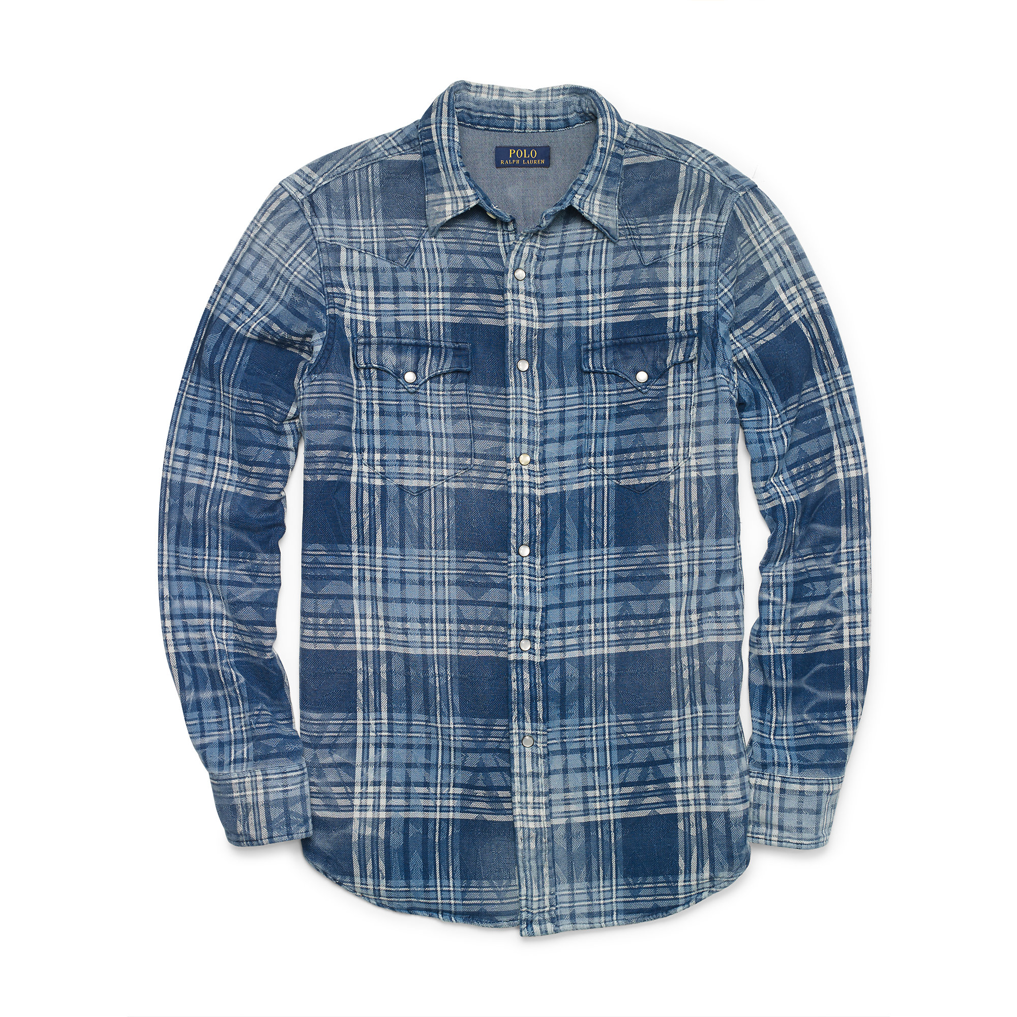 Lyst Polo Ralph Lauren Indigo Plaid Western Shirt In