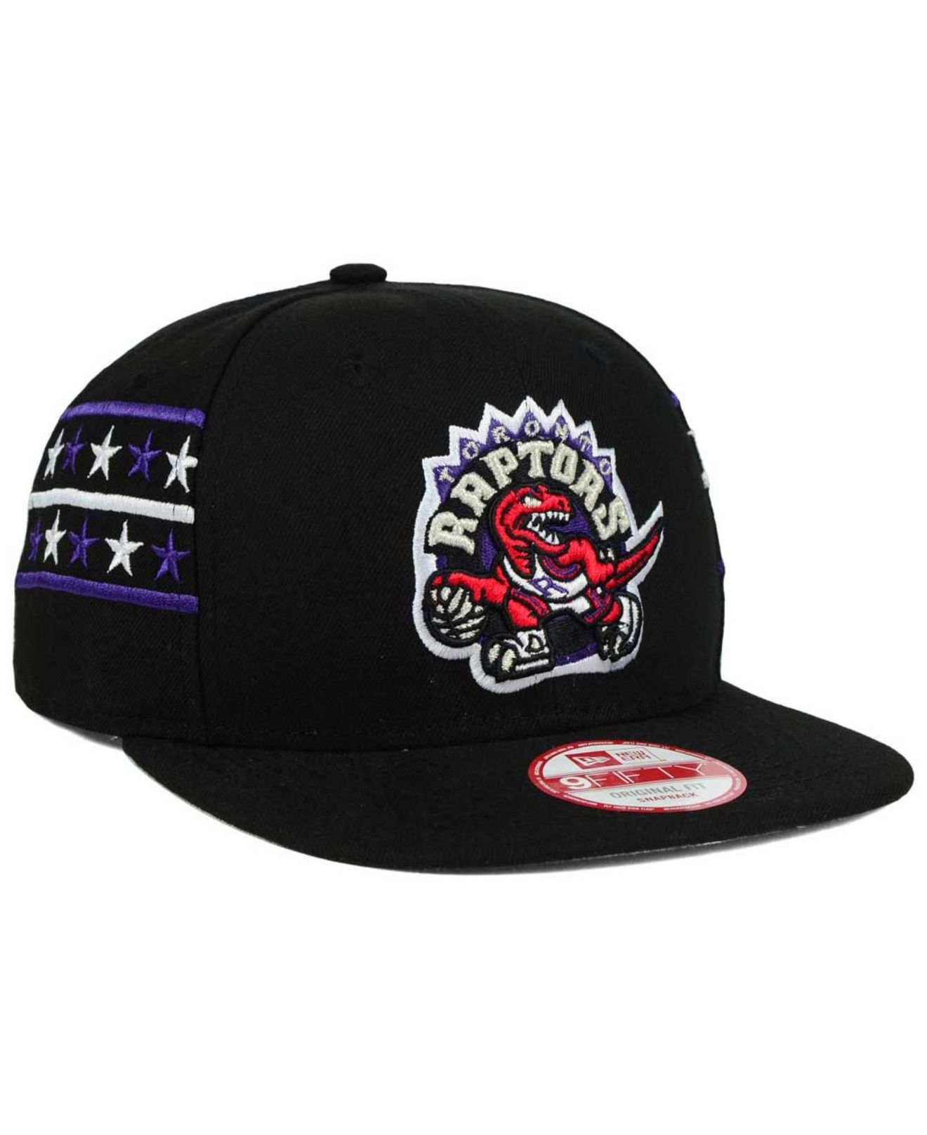 Lyst - Ktz Toronto Raptors Fine Side 9fifty Snapback Cap in Black ... 9d3a52b13a89
