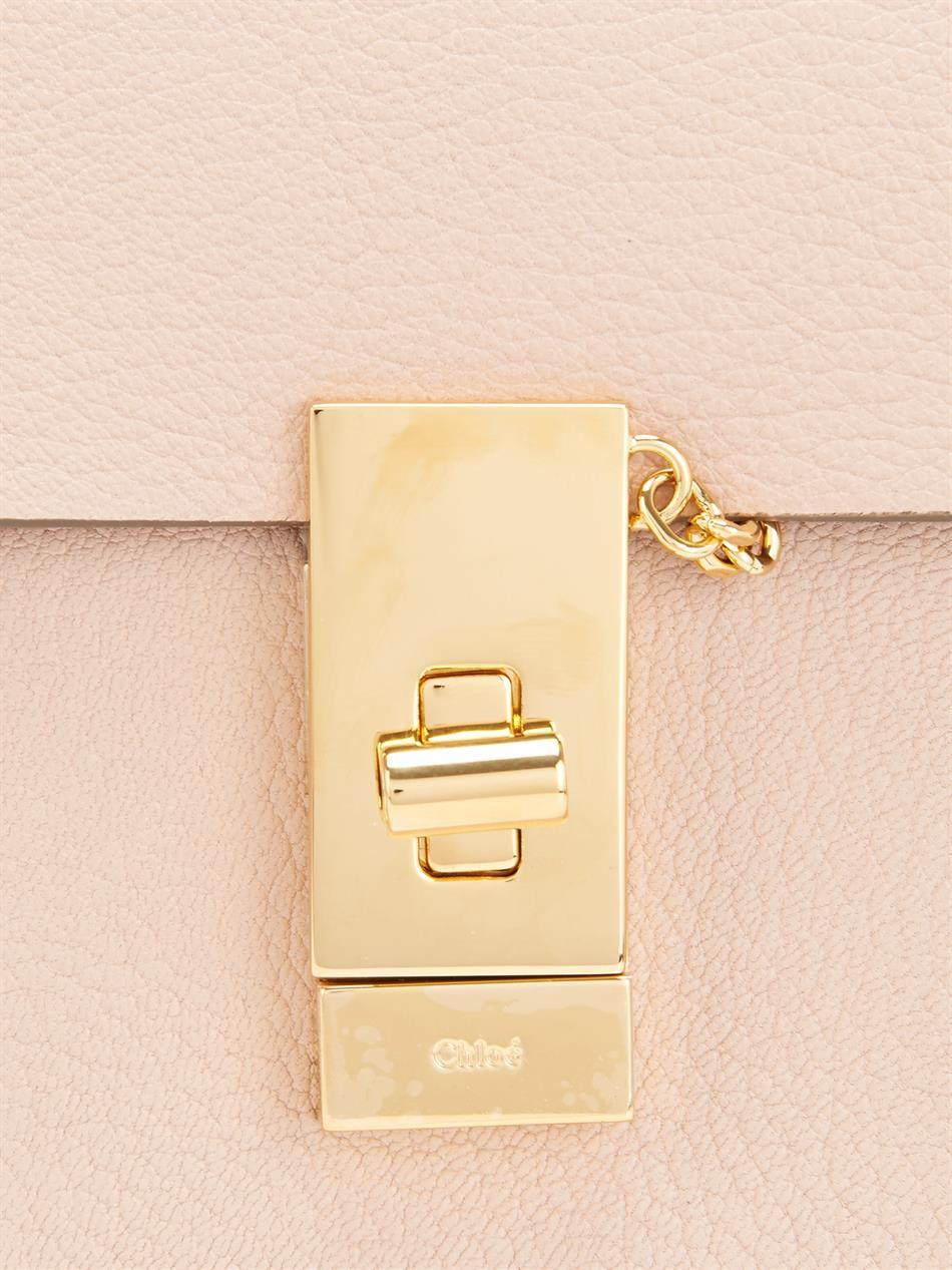 cloe handbag - Chlo�� Drew Mini Leather Shoulder Bag in Pink | Lyst