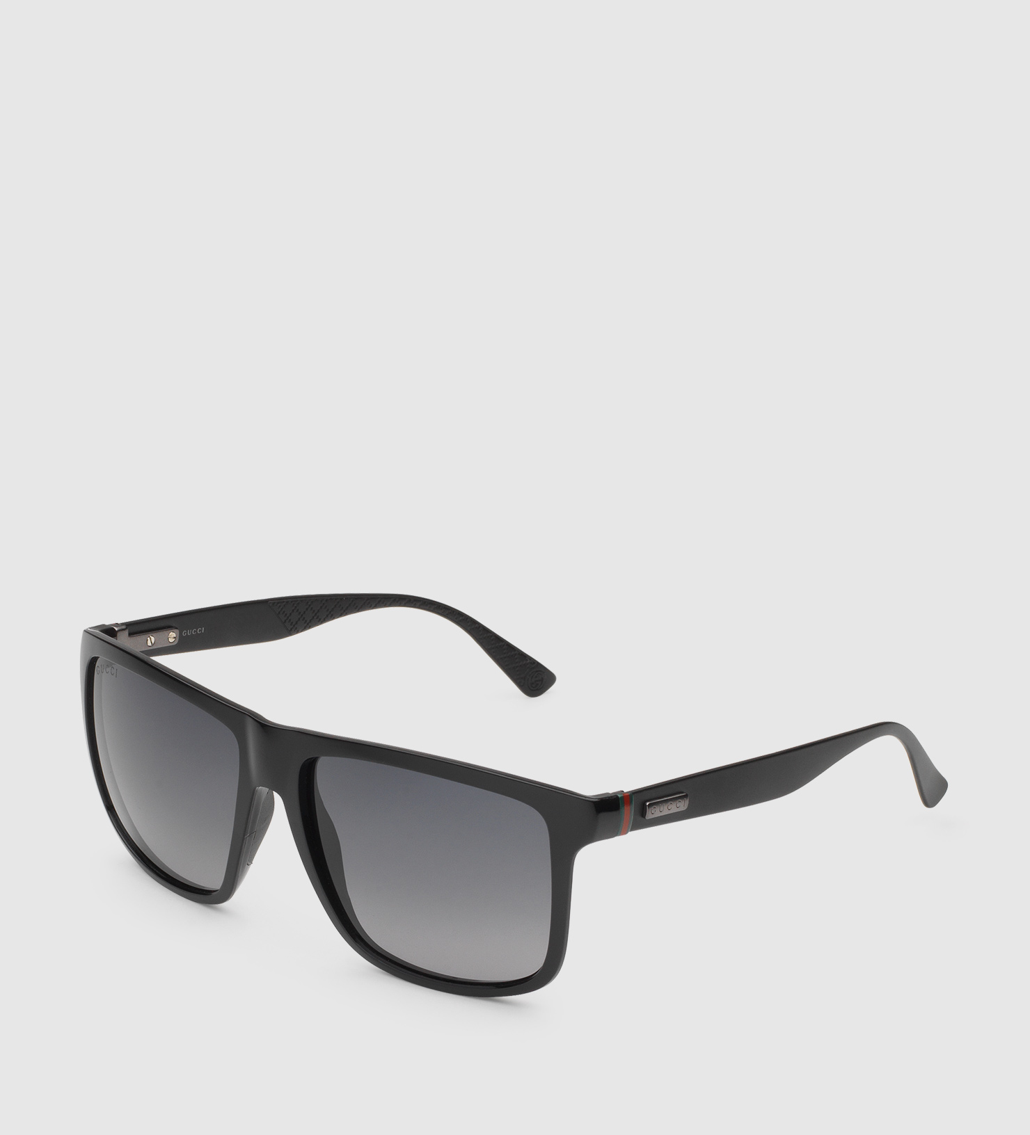 372f1fa0449 Lyst - Gucci Square-frame Aluminum And Injected Sunglasses in Black ...