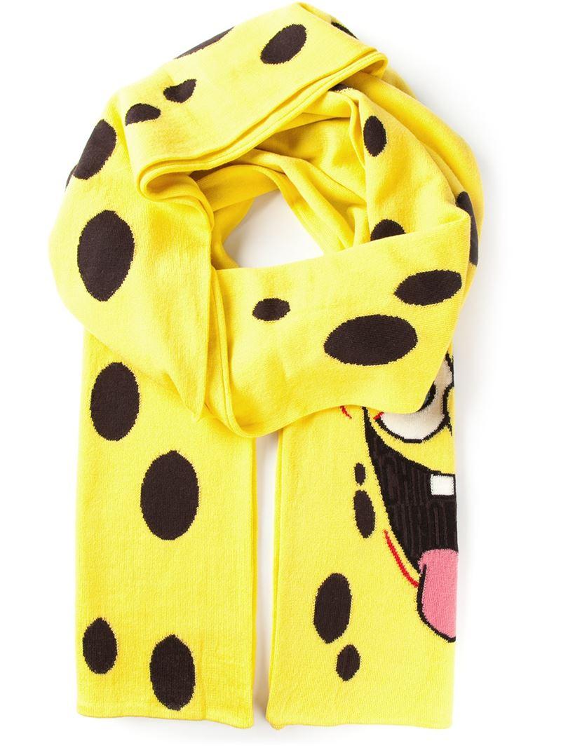 Lyst - Moschino Spongebob Knit Scarf in Yellow