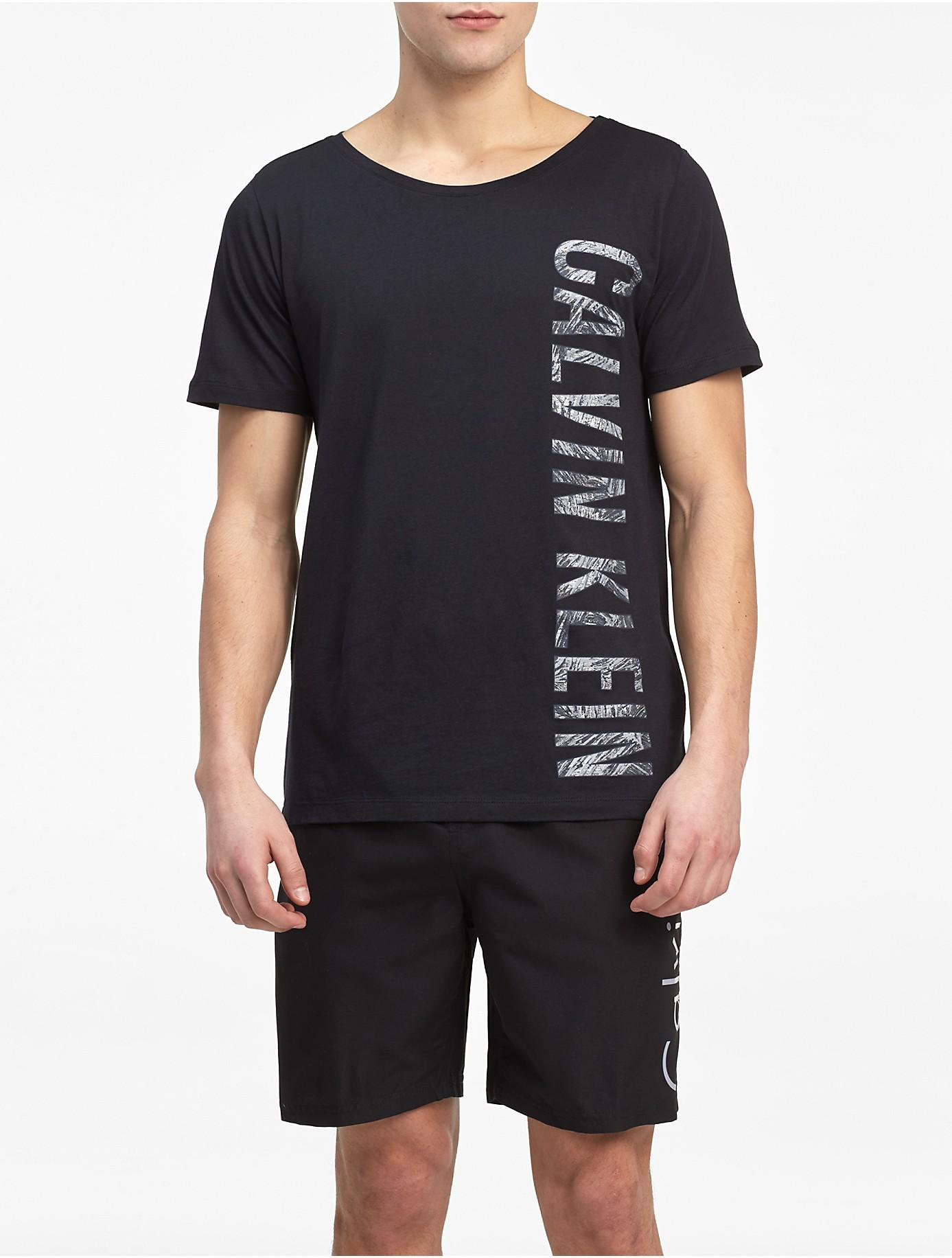 Lyst calvin klein intense power cotton modal t shirt in for Modal t shirts mens