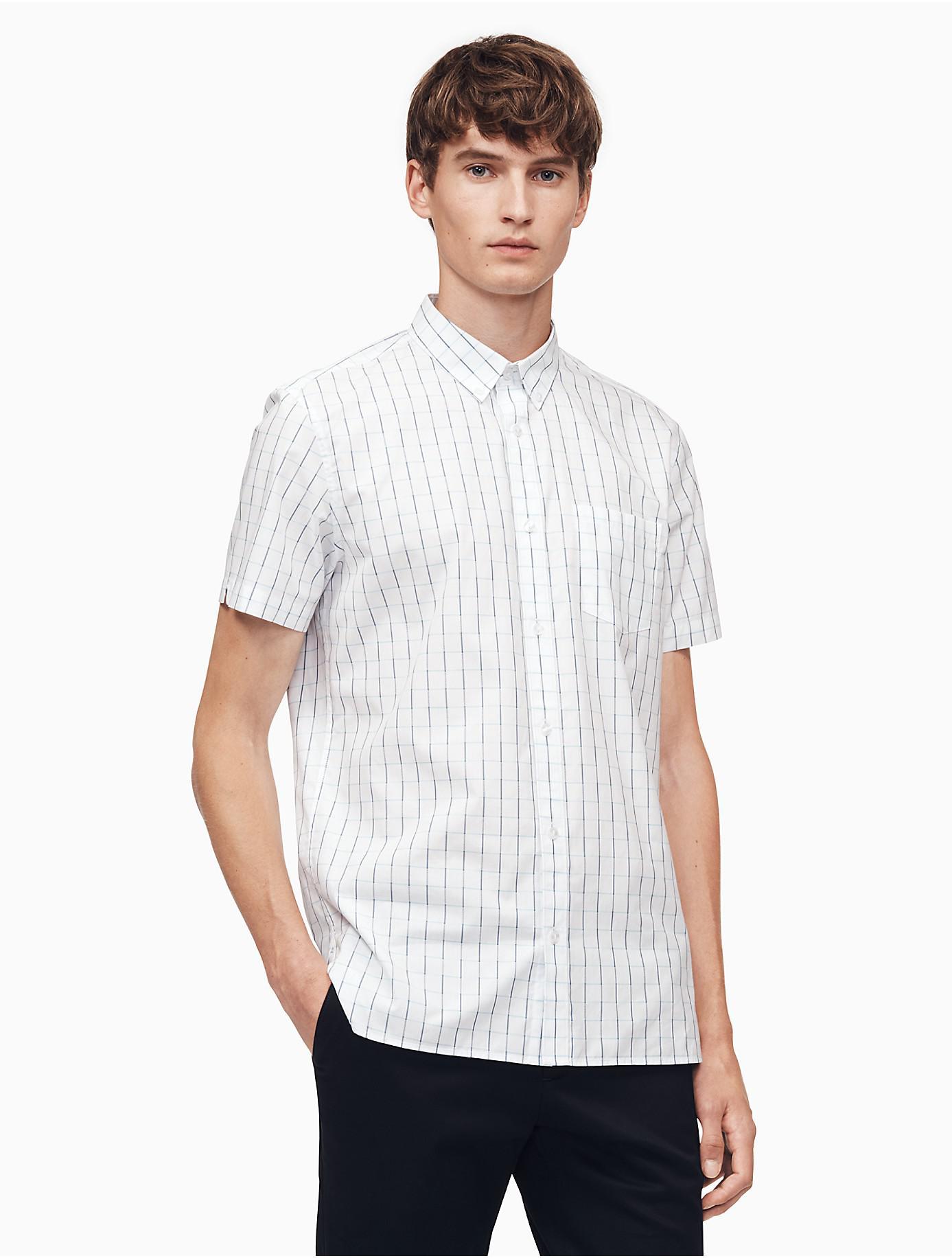 28588208764 Lyst - Calvin Klein Classic Fit Windowpane Shirt in White for Men