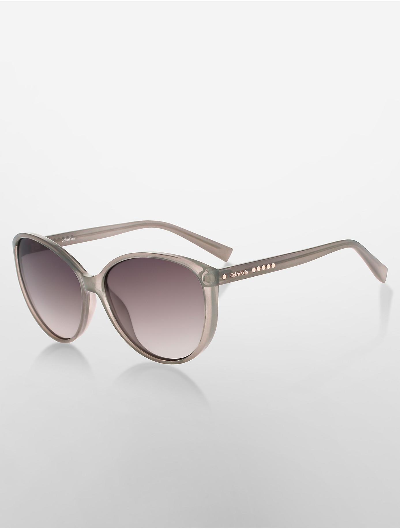 Calvin Klein Cat Eye Sunglasses  calvin klein studded cat eye sunglasses in gray lyst