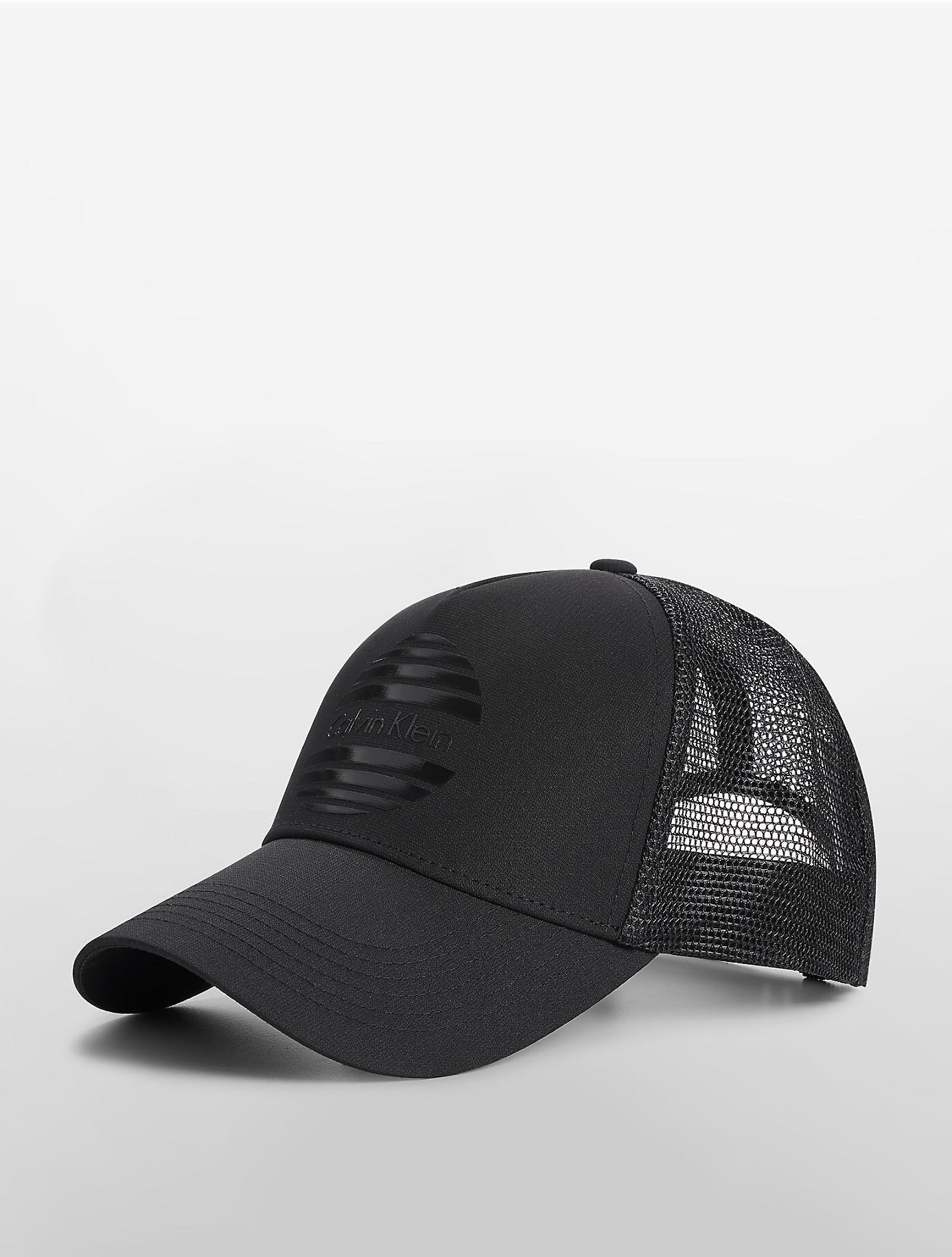 calvin klein shutter logo trucker cap in black for men lyst. Black Bedroom Furniture Sets. Home Design Ideas