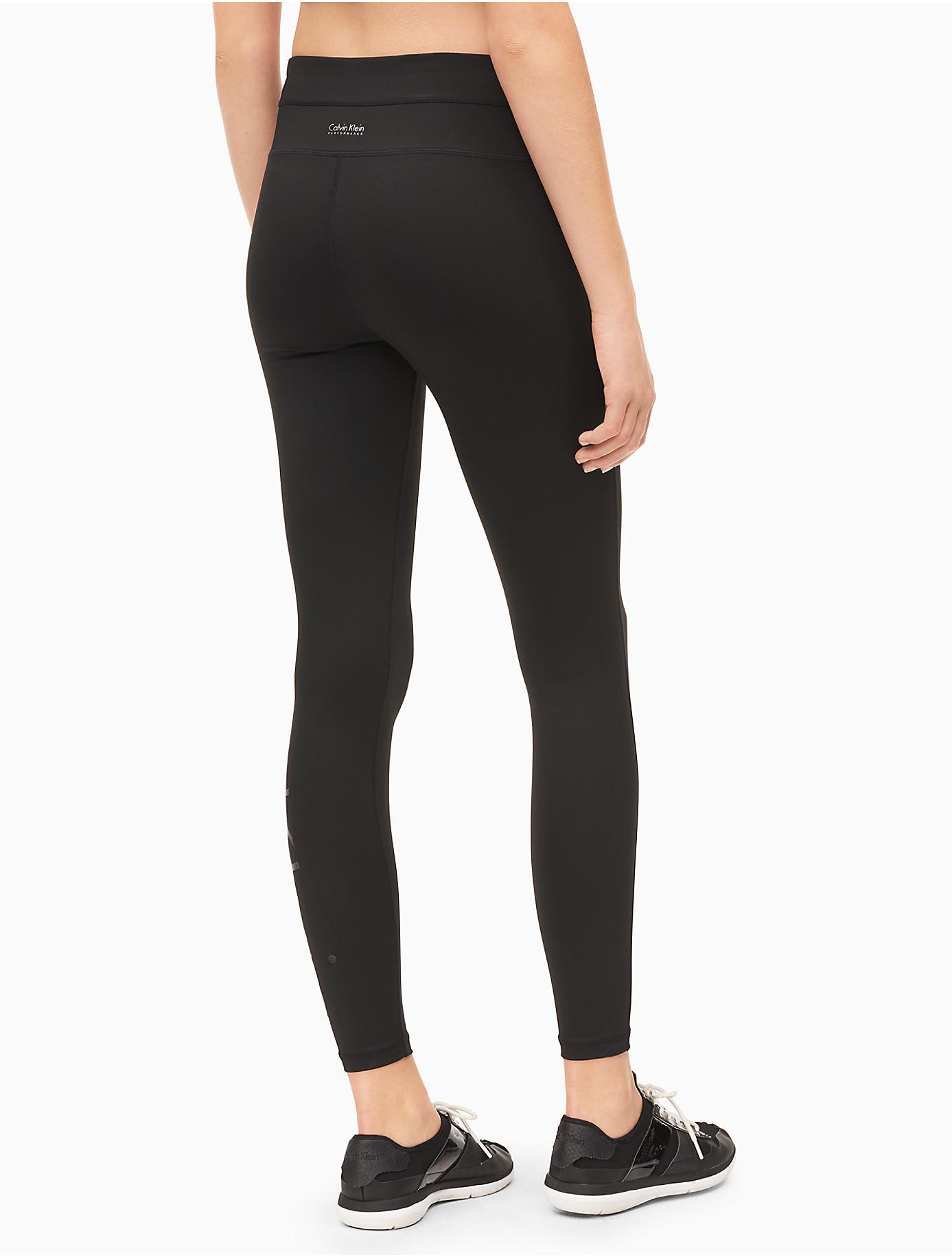 lyst calvin klein performance high waist leggings in black. Black Bedroom Furniture Sets. Home Design Ideas