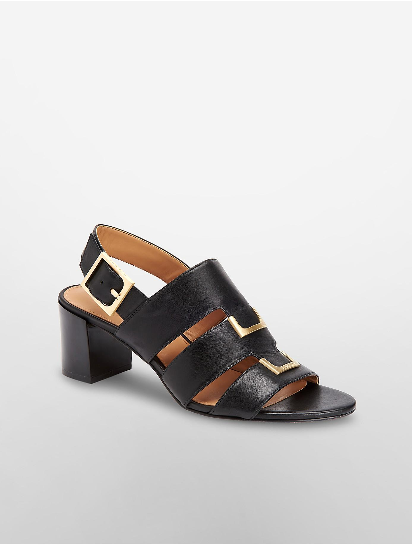 de39f84283c991 calvin klein black sandals calvin klein neda leather sandal in black lyst