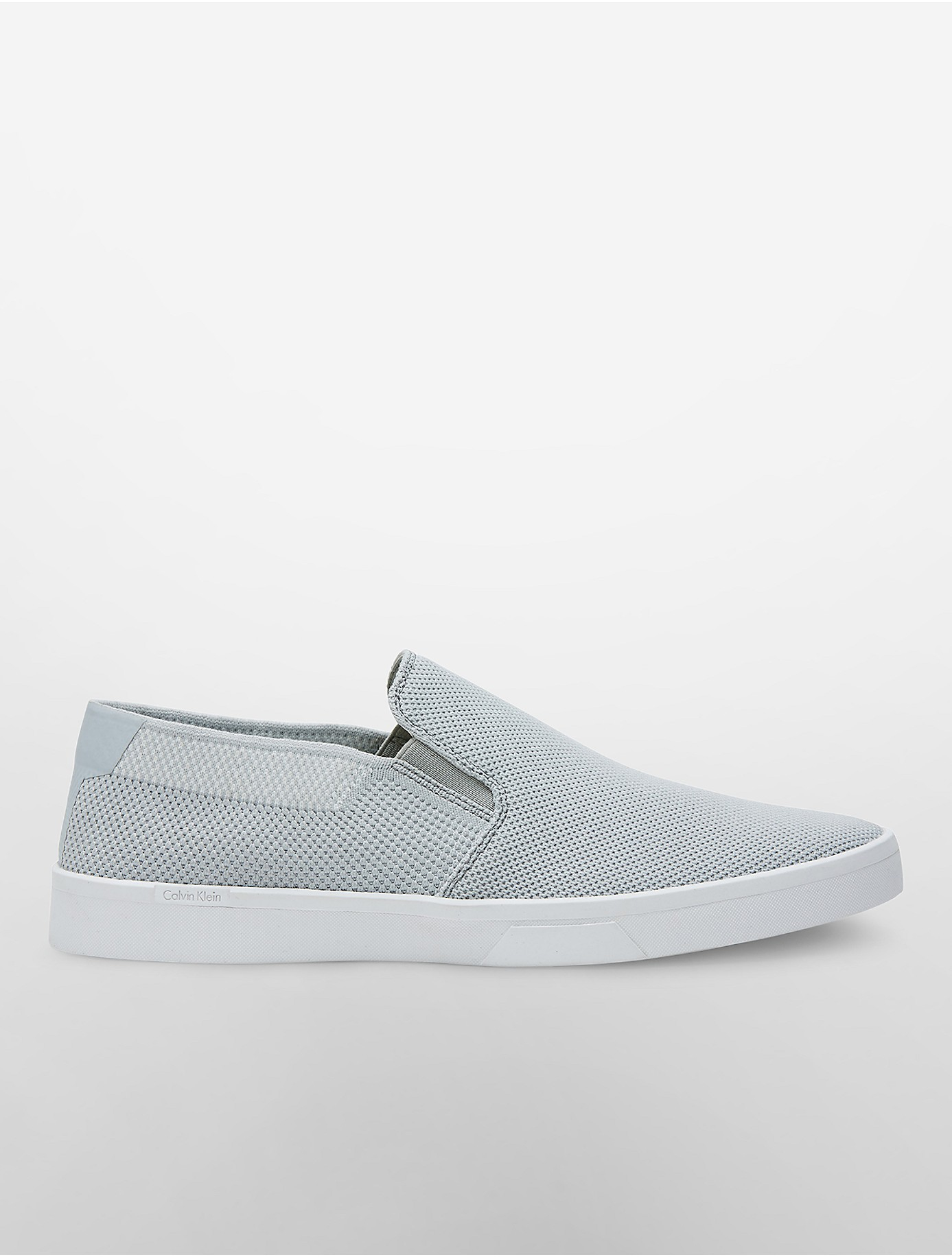 calvin klein ives slip on sneaker in gray for men lyst. Black Bedroom Furniture Sets. Home Design Ideas