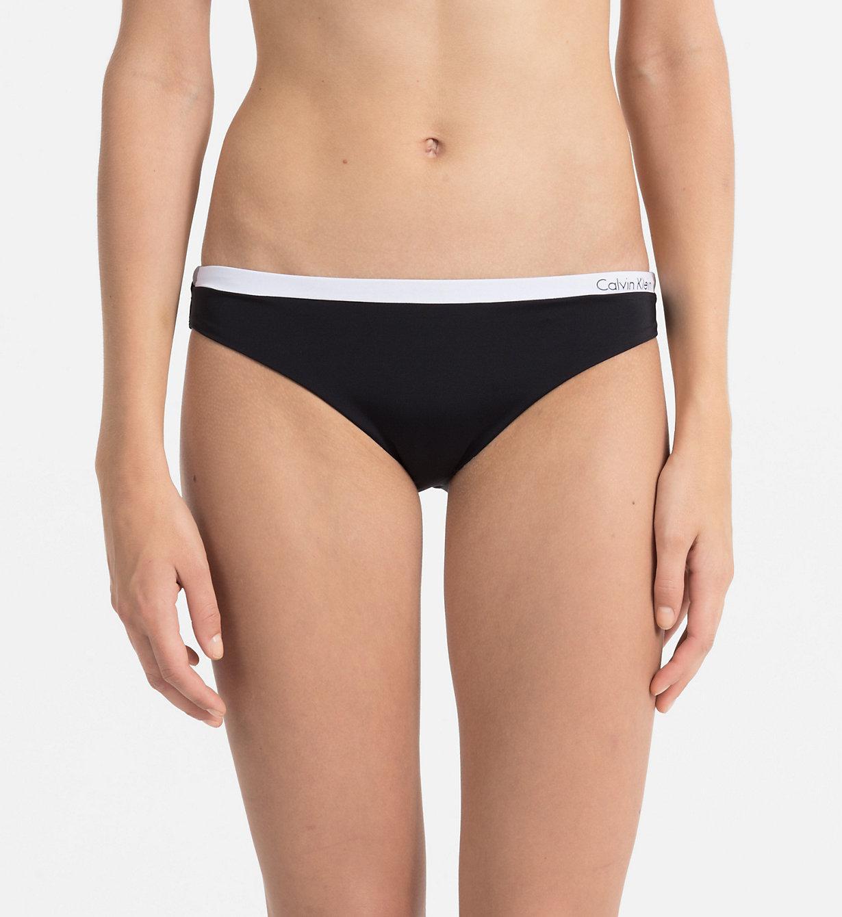 77689aa46d22b Calvin Klein Classic Bikini Bottom - Logotape in Black - Lyst