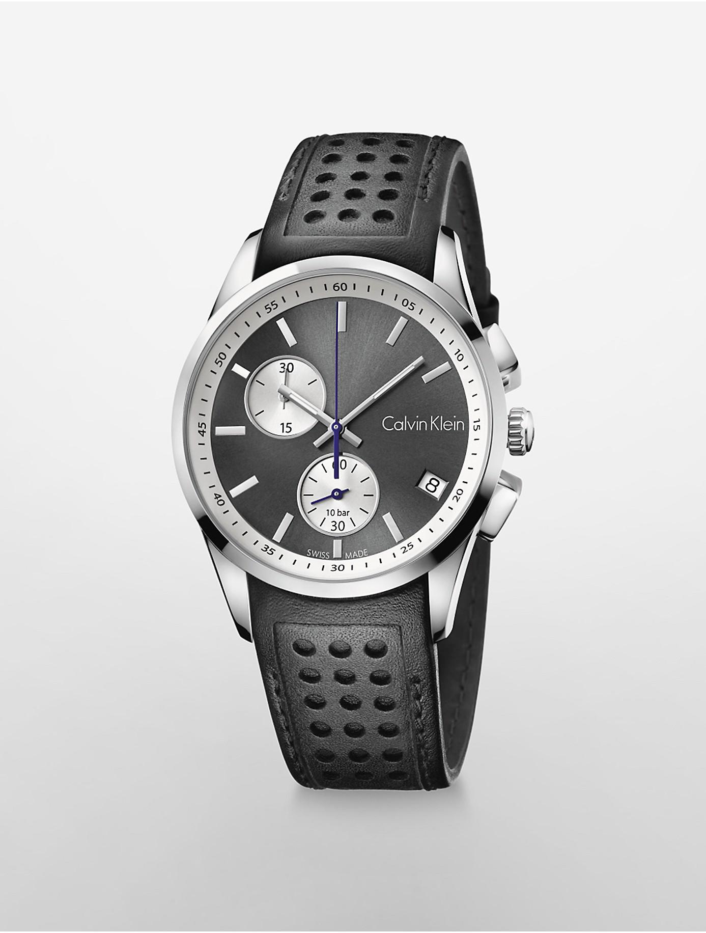 012b04b26 Lyst - Calvin Klein Bold Chronograph Watch in Black for Men