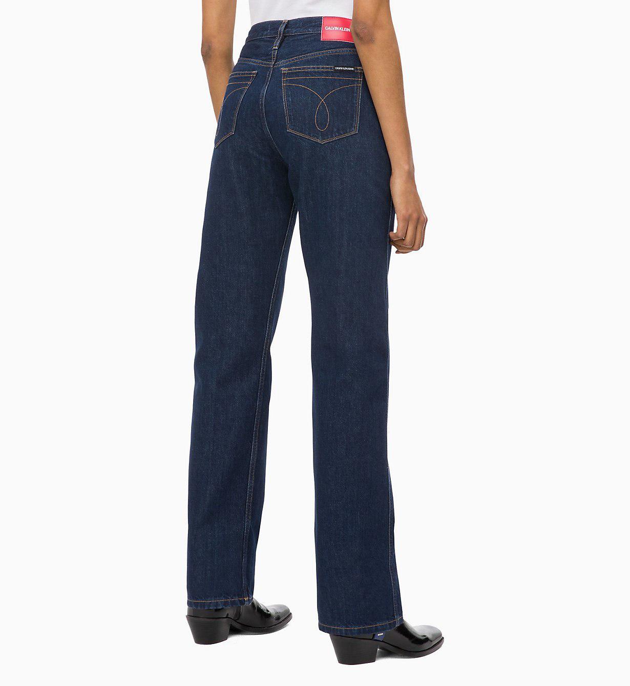 Calvin Klein - Blue Ckj 030 High Rise Straight Jeans - Lyst. View fullscreen 70bd0597c5