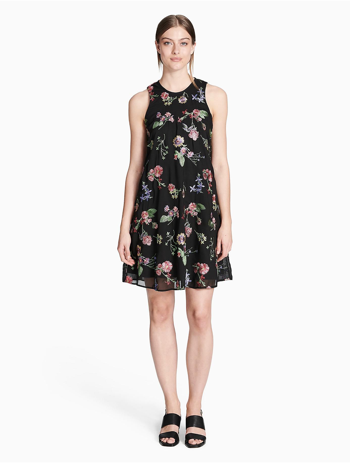 floral embroidered shift dress - Black CALVIN KLEIN 205W39NYC 6zItG1