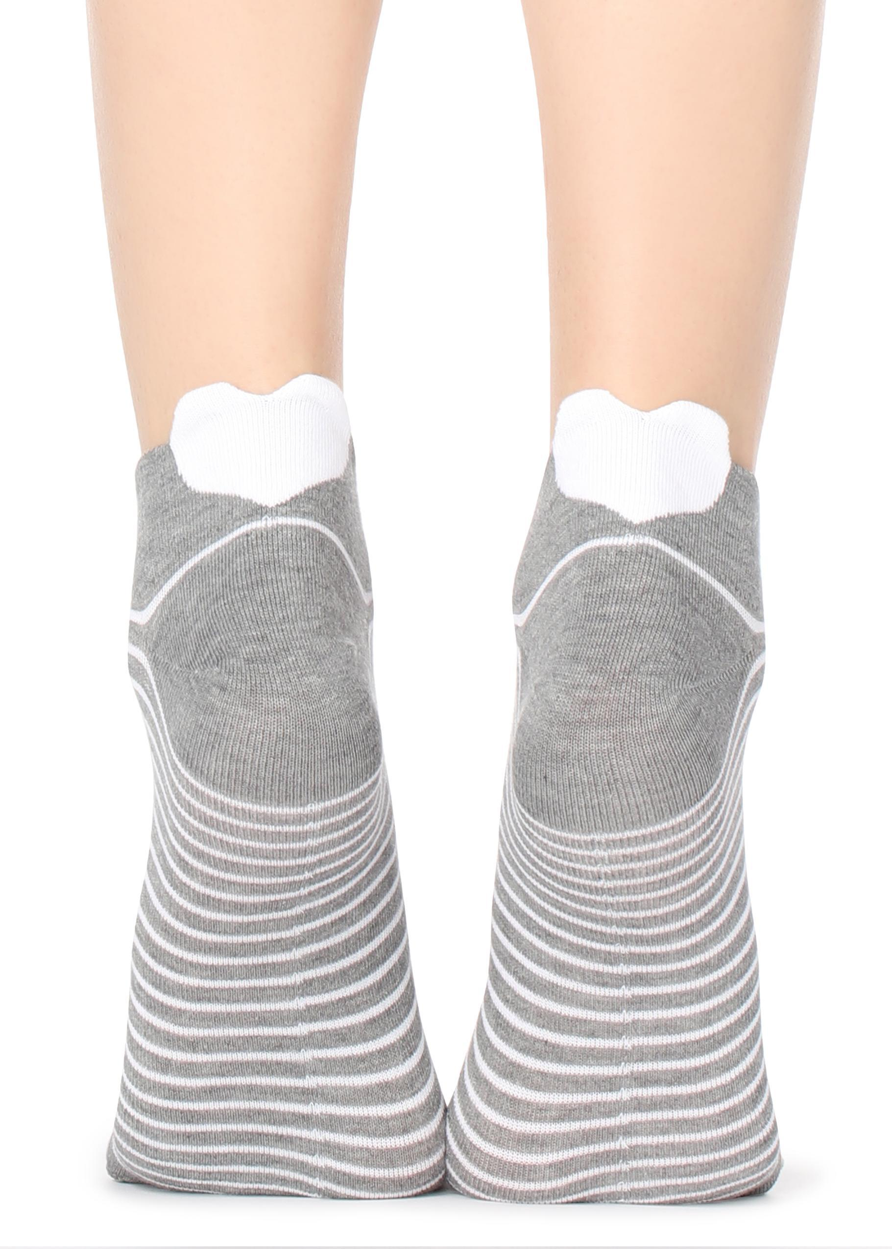9424159c3 Lyst - Calzedonia Patterned No-show Socks in Gray