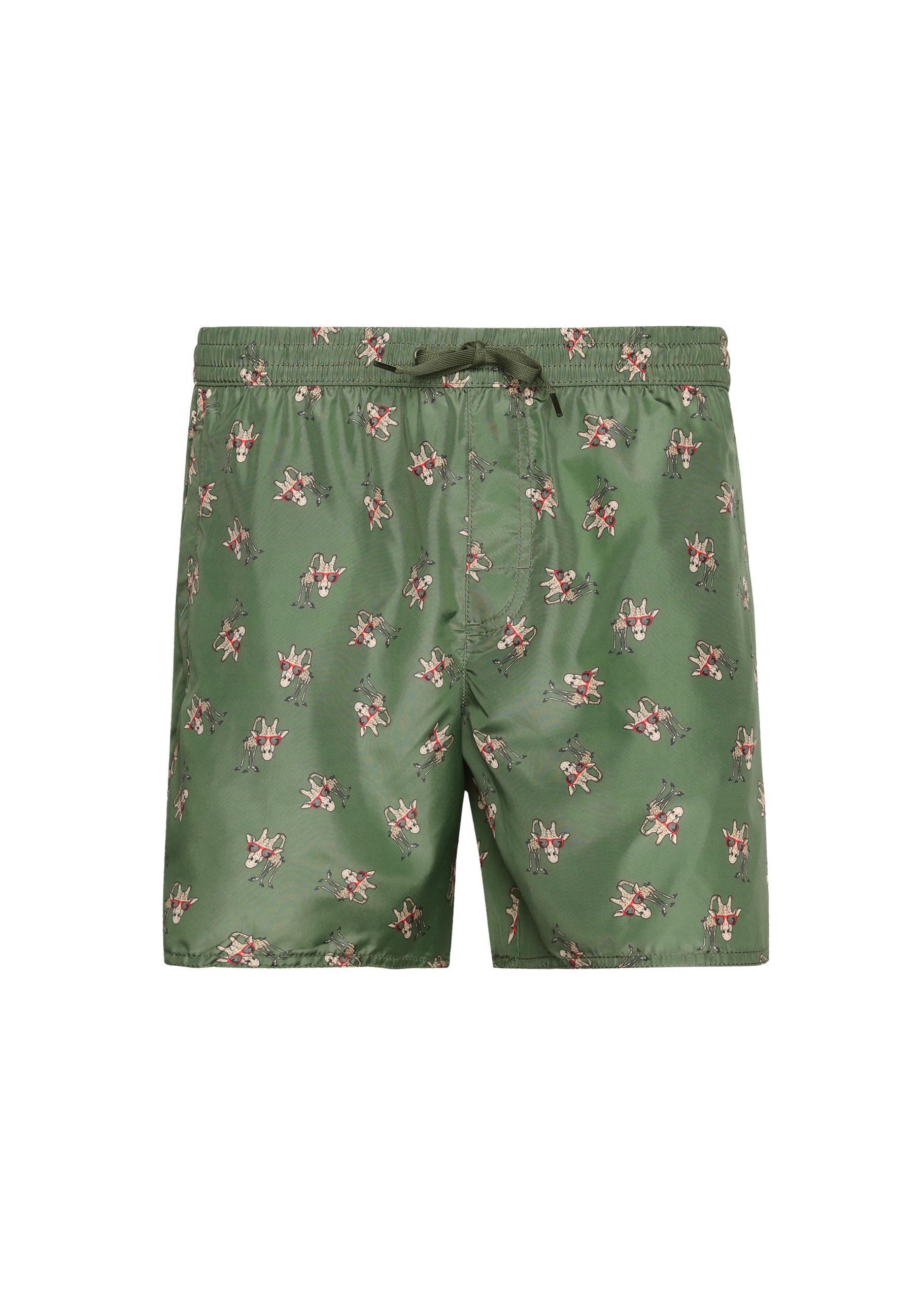 9601904905 Calzedonia - Green Formentera Patterned Swim Trunks for Men - Lyst. View  fullscreen