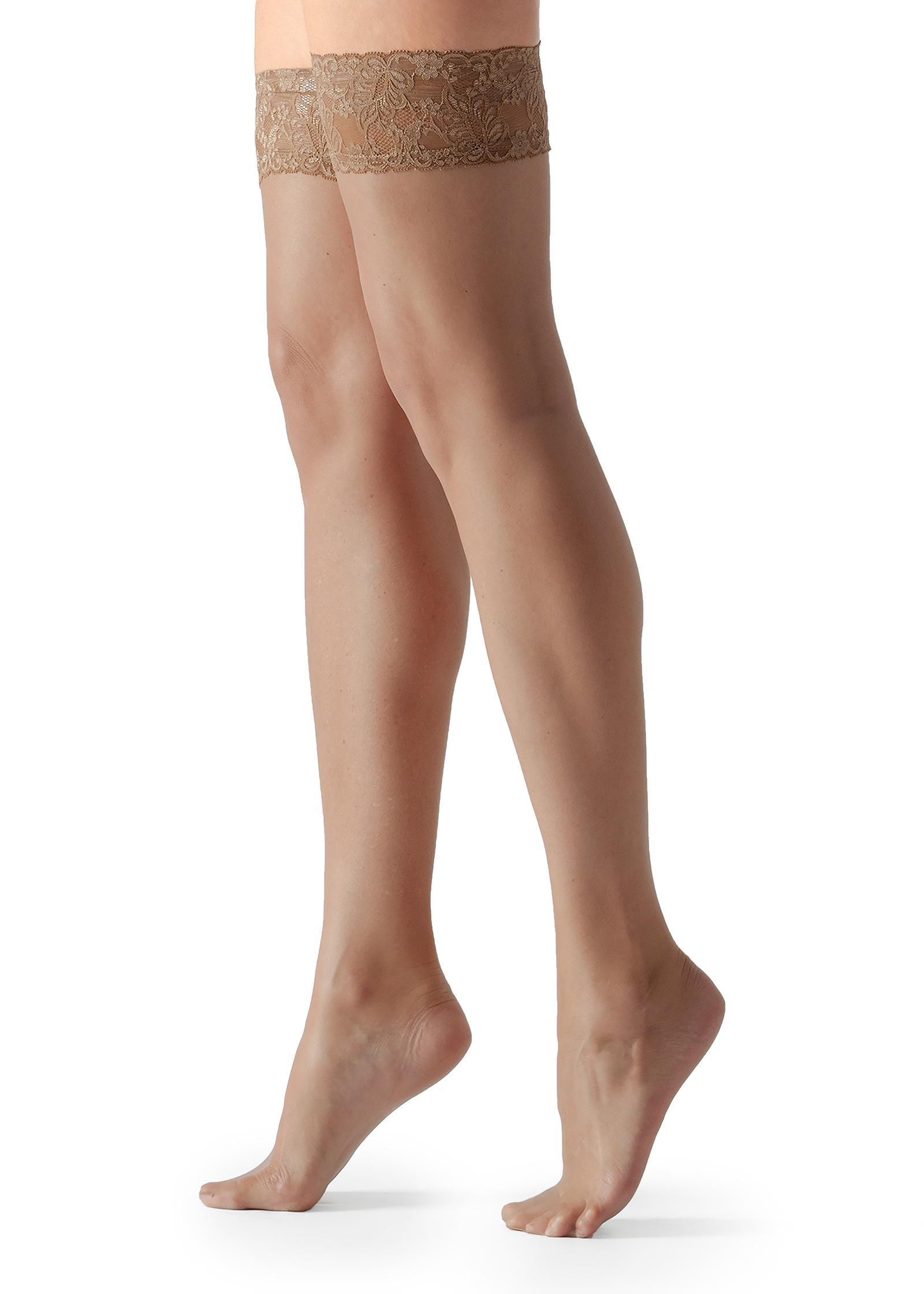 3ed94c8bd Lyst - Calzedonia 8 Denier Ultra Sheer Thigh-highs in Natural