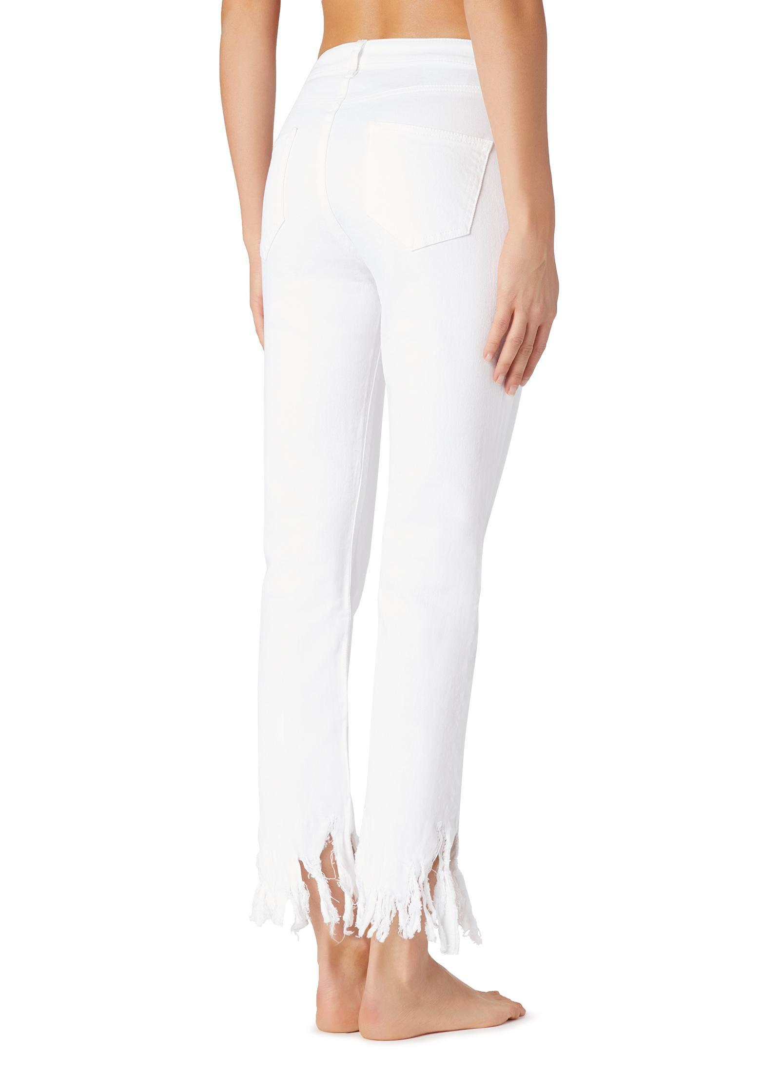 51257200e Lyst - Calzedonia Frayed Jeans in White