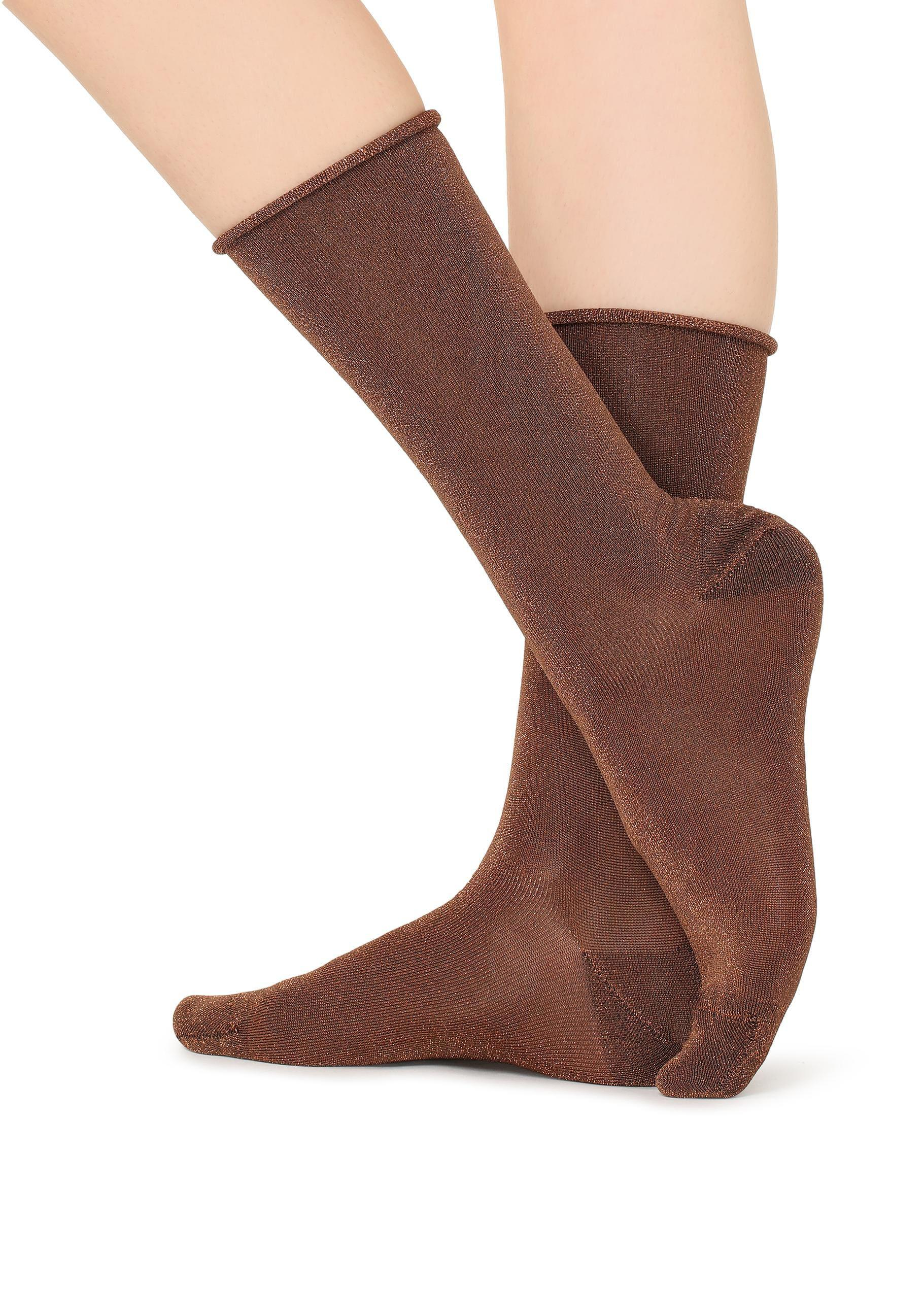 727e354fb Lyst - Calzedonia Tall Patterned Socks in Brown