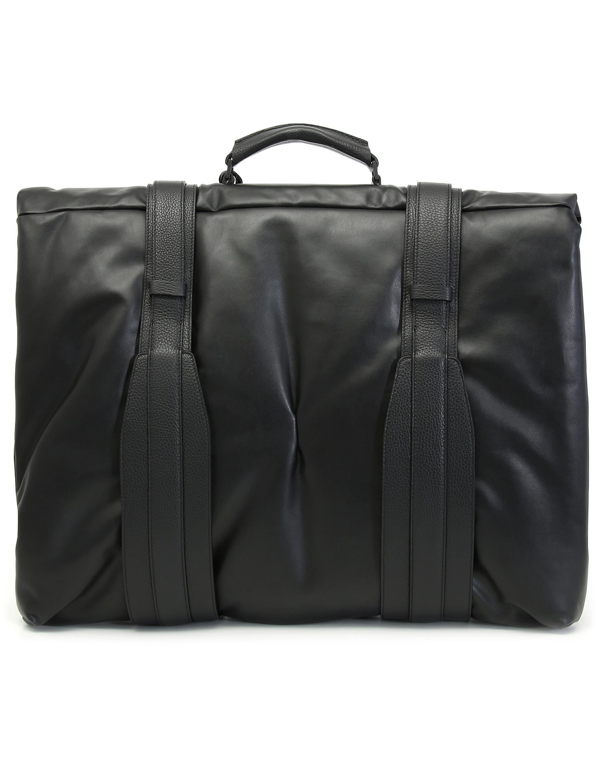 26f6da35d3 Lyst - Canali Black Textured Calfskin Leather Garment Bag in Black for Men