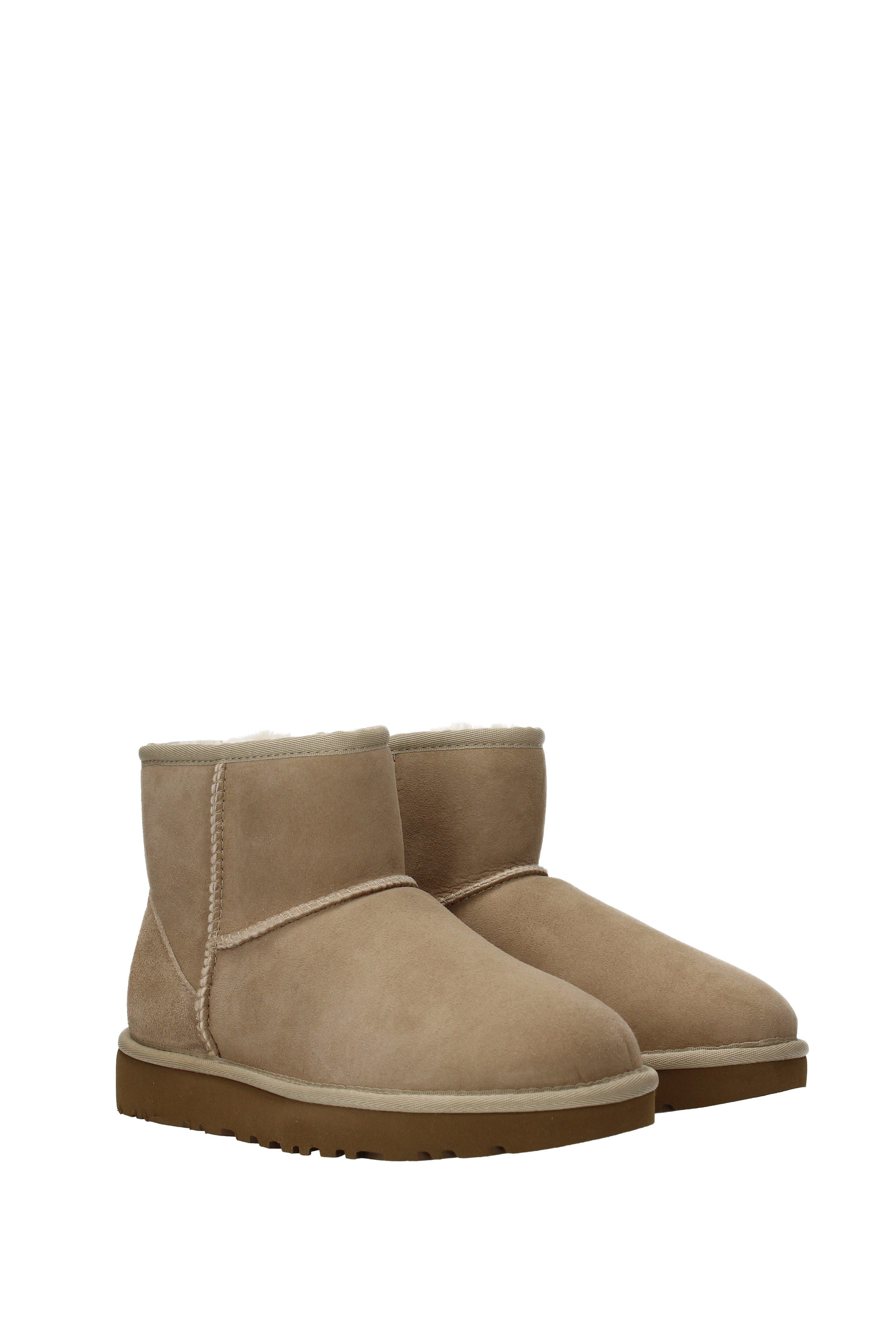 8aa6fe38e71 Natural Ankle Boots Water Resistant Classic Mini Ii Women Beige