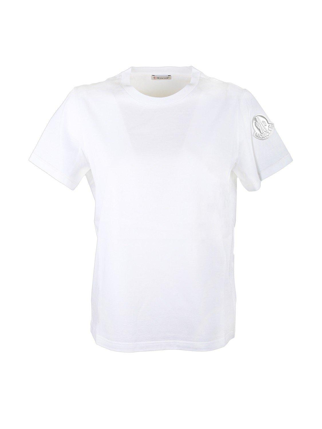 2e6fb694e Lyst - Moncler Cotton T-shirt With Logo in White