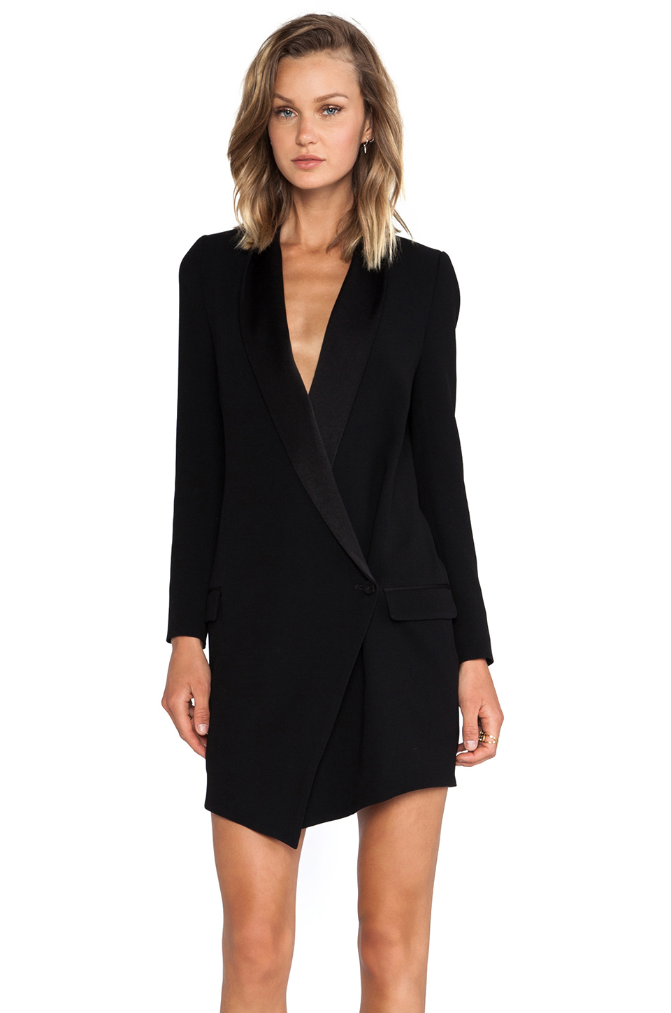 Lyst Haute Hippie Oversized Asymmetrical Blazer Dress In