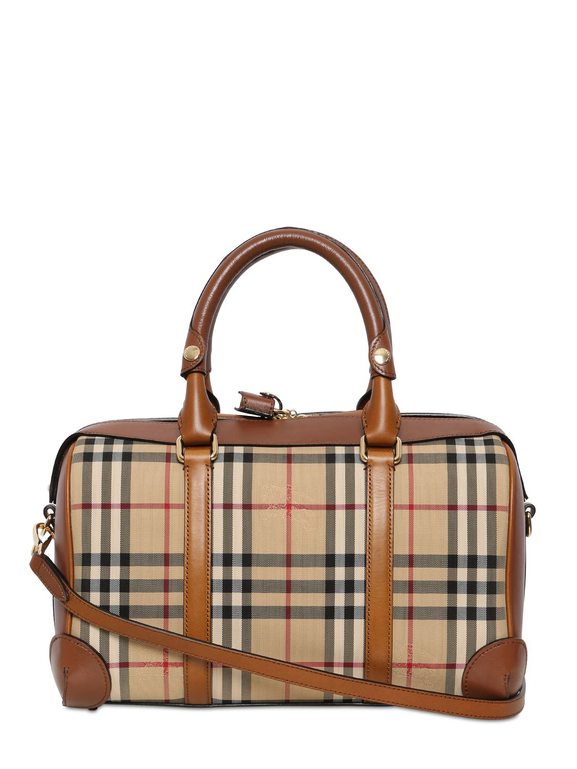 Burberry Medium Alchester Bridle House Check Bag in Brown - Lyst f54d114d6c