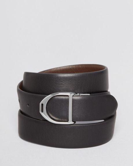 ralph polo reversible calfskin belt in black for