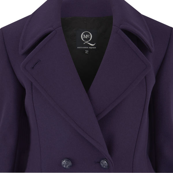 Mcq Women's Short Peacoat in Purple for Men | Lyst