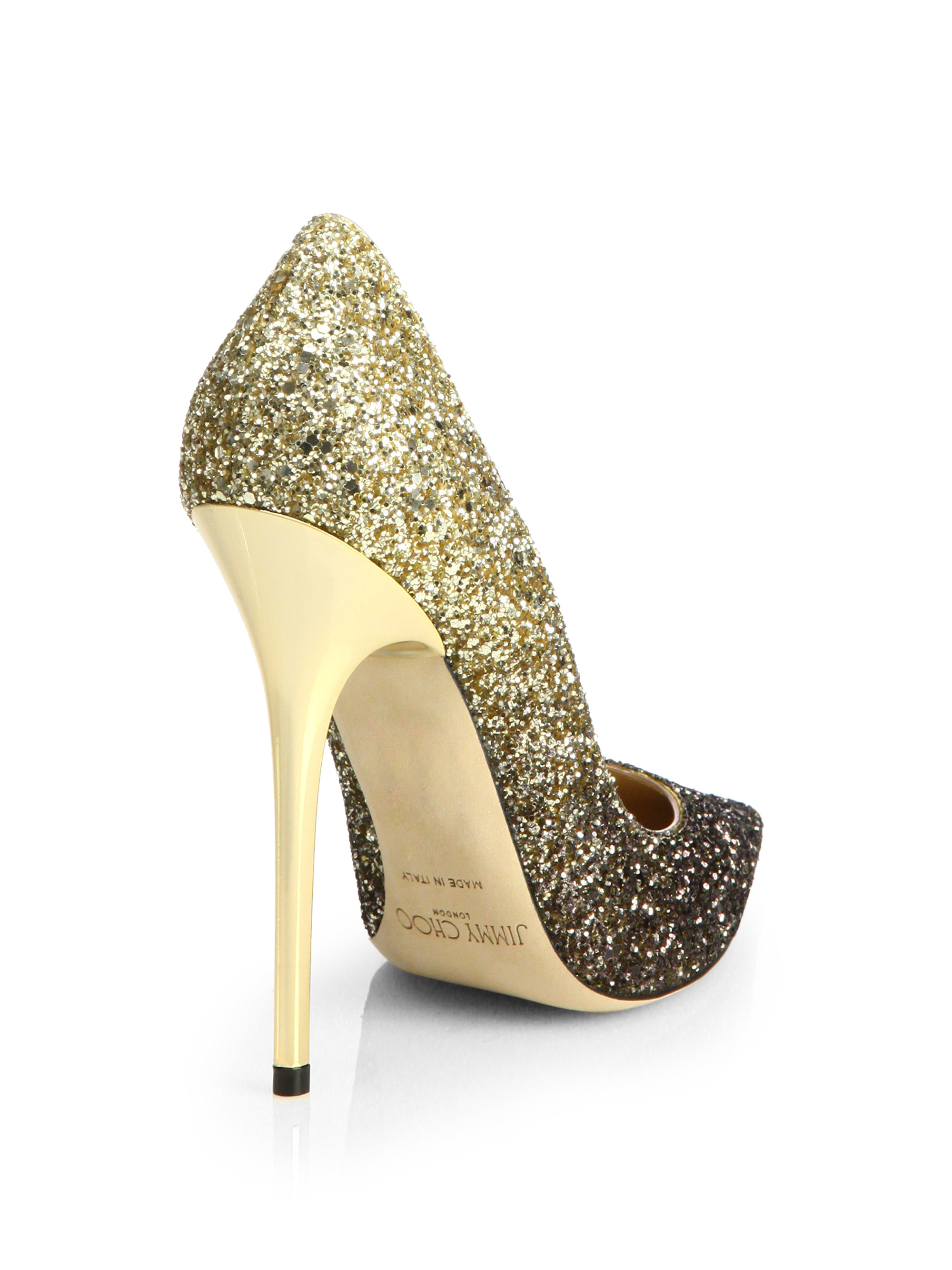 6c0e55cad0d Lyst - Jimmy Choo Anouk 120 Glitter Degrade Pumps in Metallic